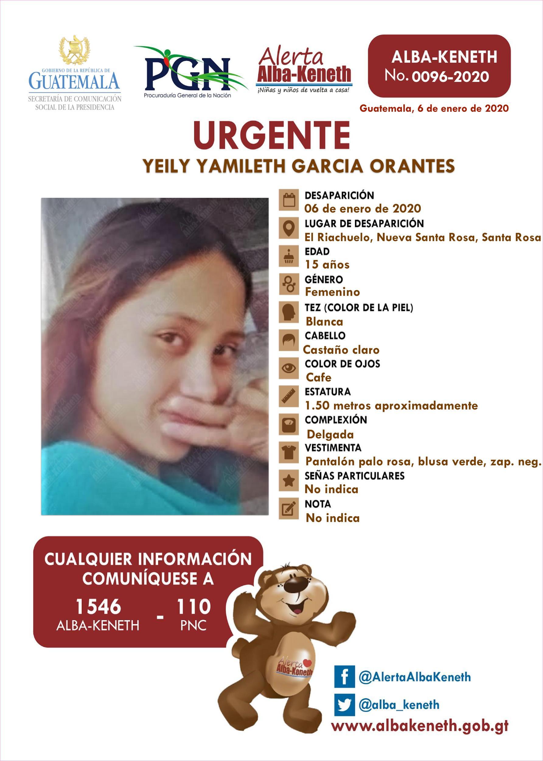 Yeily Yamileth Garcia Orantes
