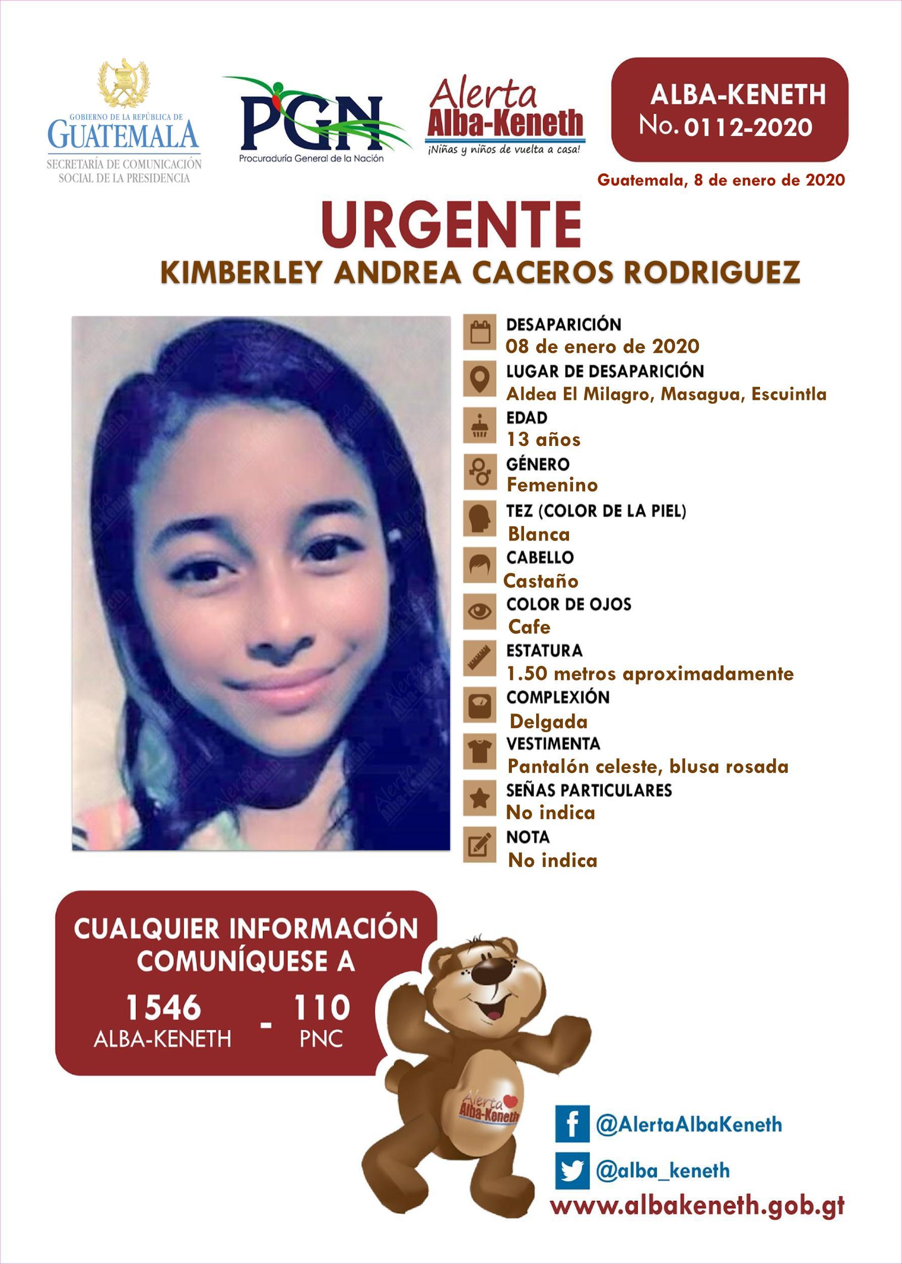 Kimberley Andrea Caceros Rodriguez
