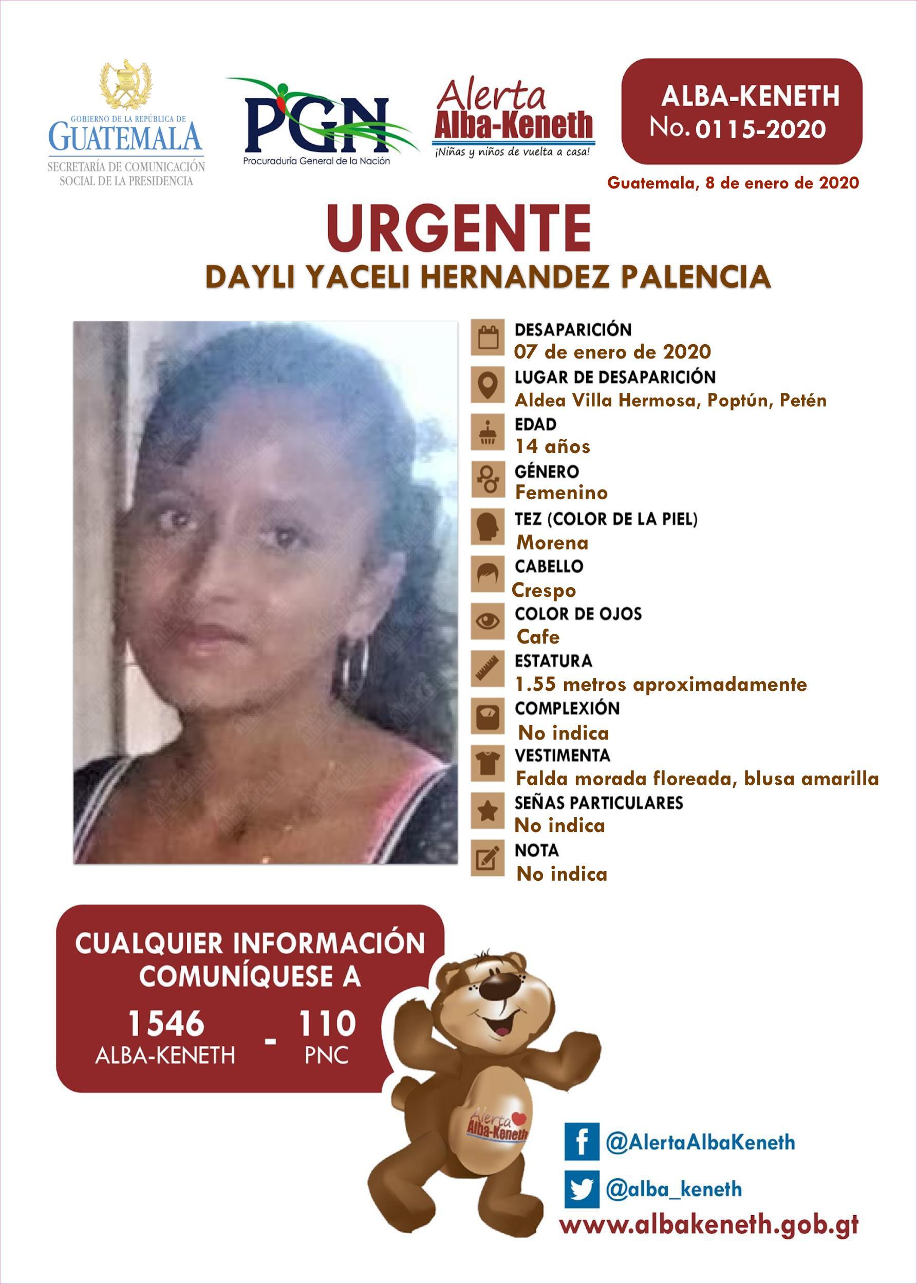 Dayli Yaceli Hernandez Palencia