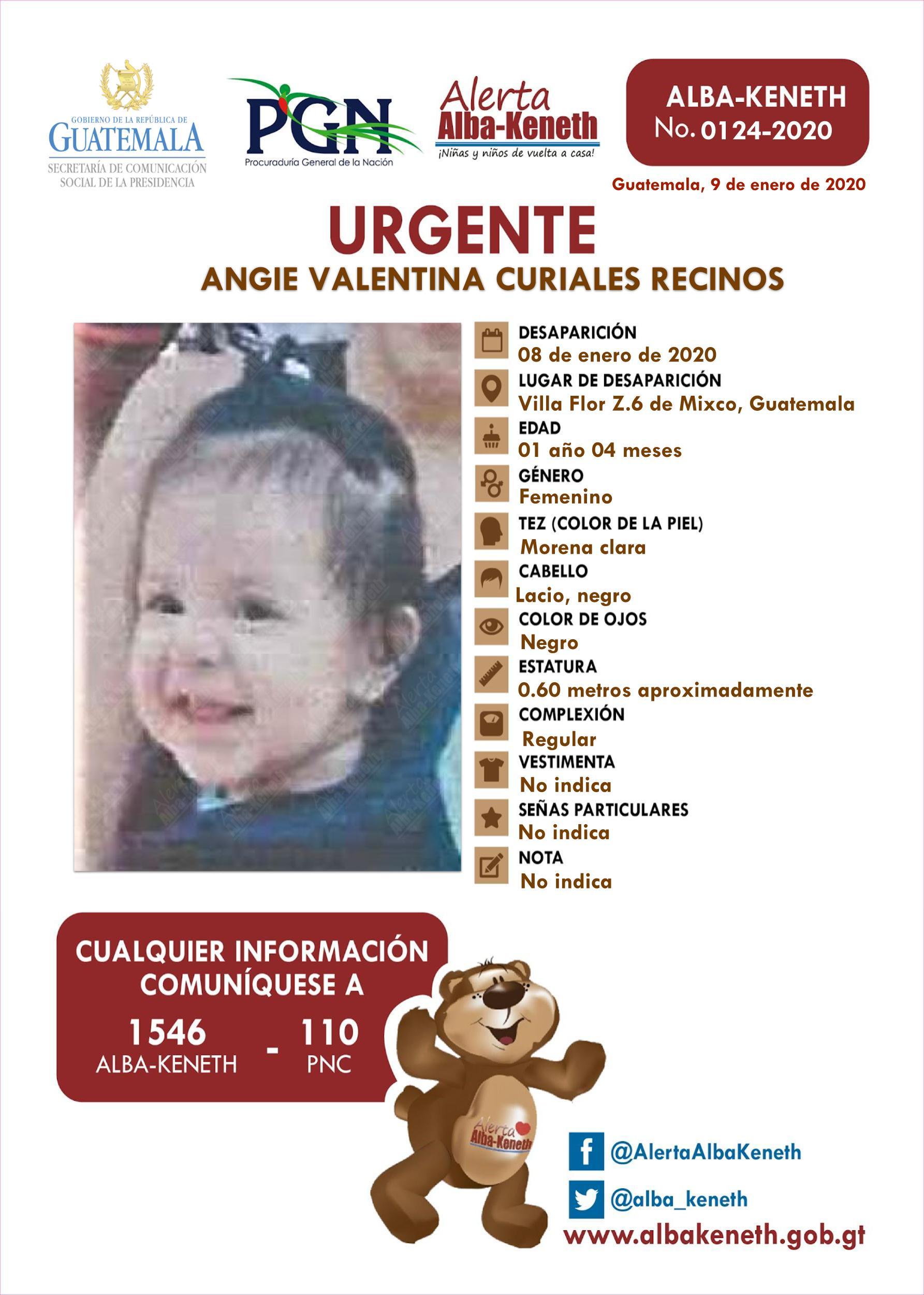 Angie Valentina Curiales Recinos