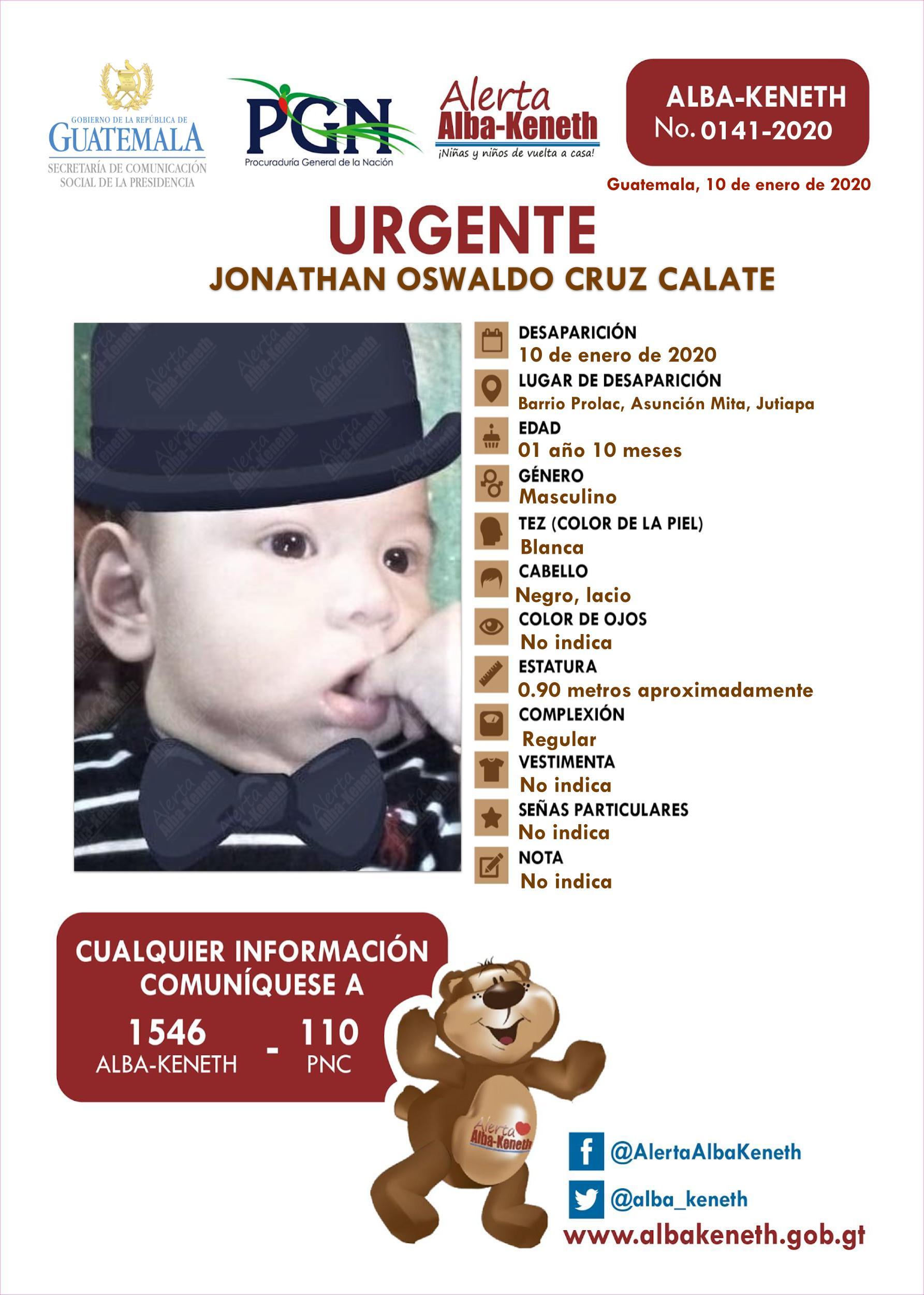 Jonathan Oswaldo Cruz Calate