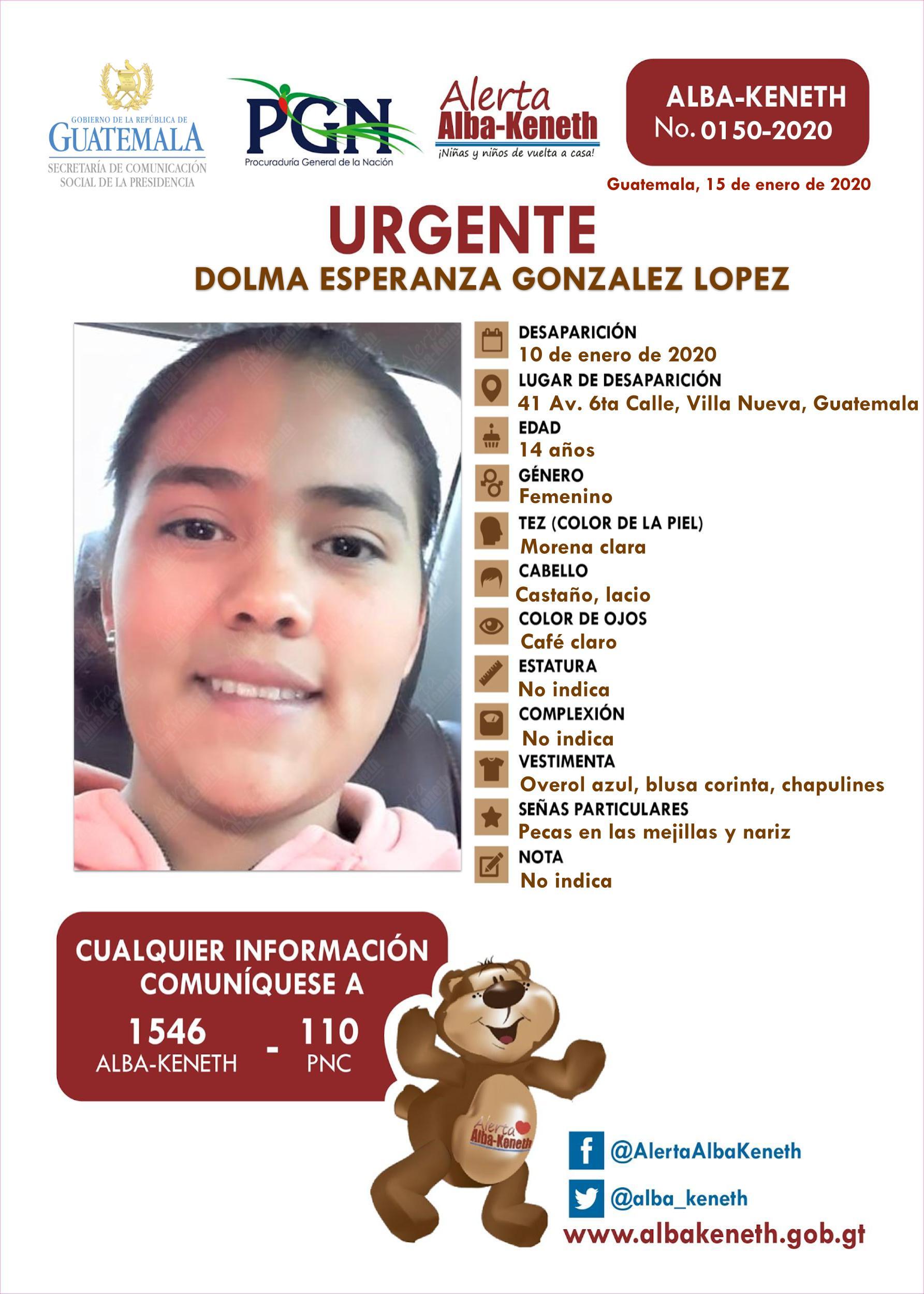 Dolma Esperanza Gonzalez Lopez