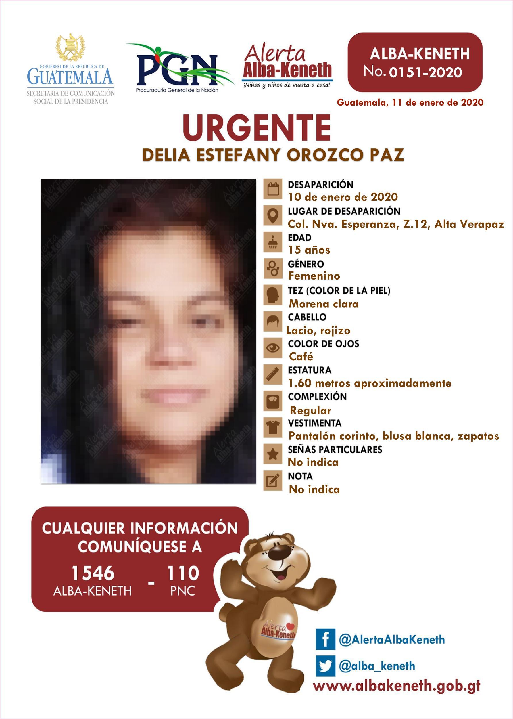 Delia Estefany Orozco Paz