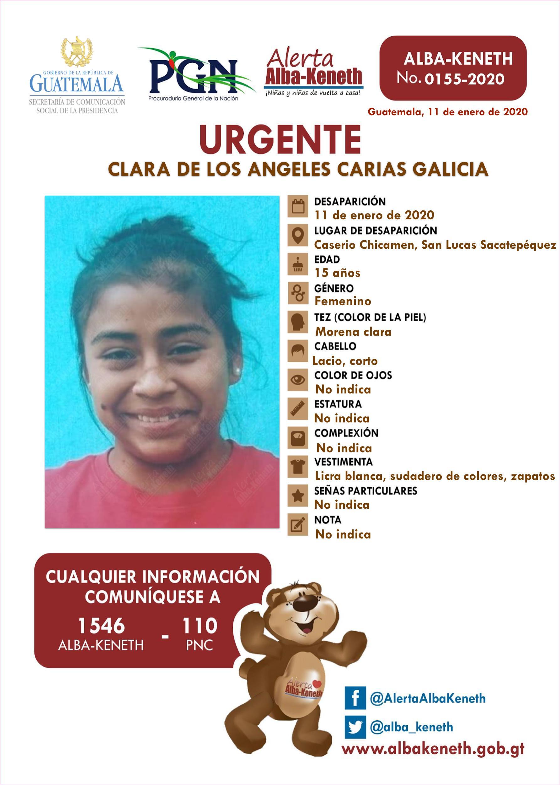 Clara de los Angeles Carias Galicia