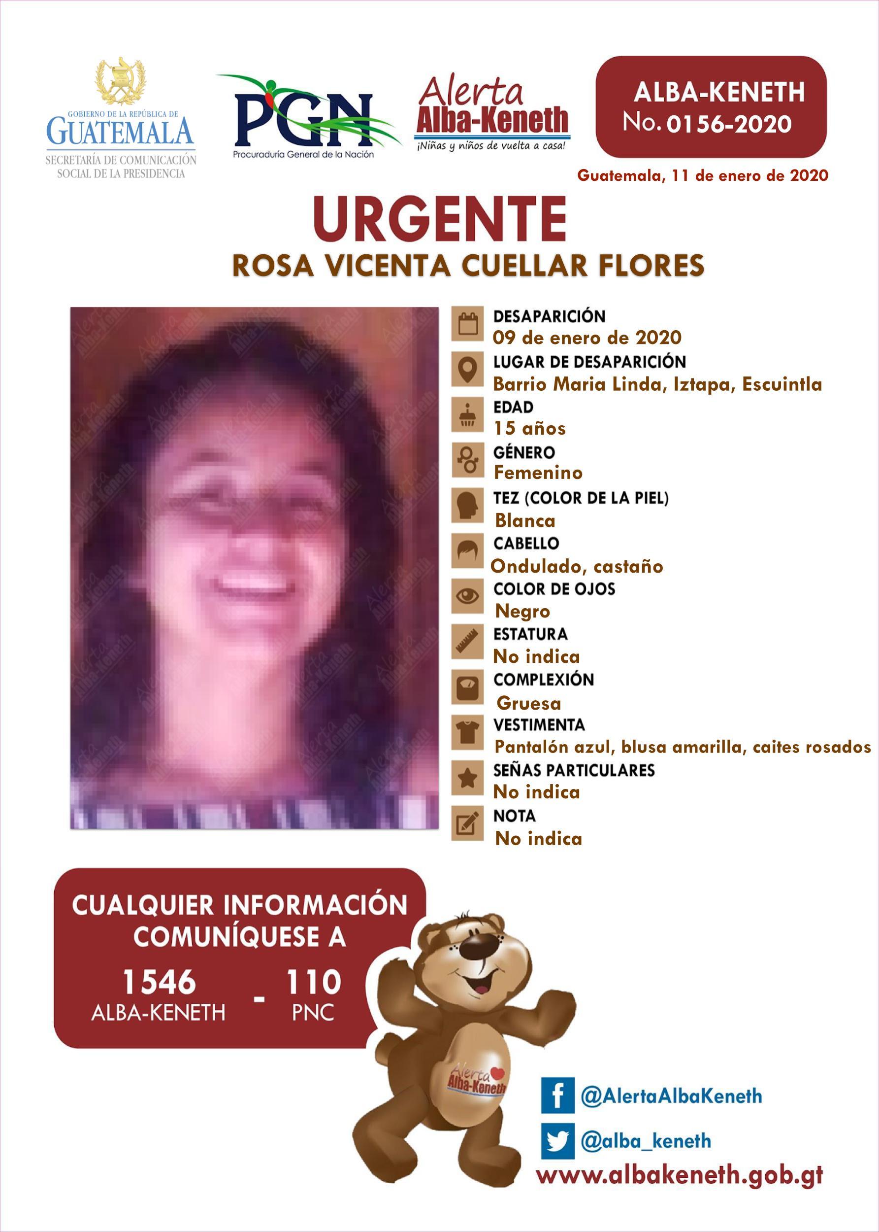 Rosa Vicenta Cuellar Flores