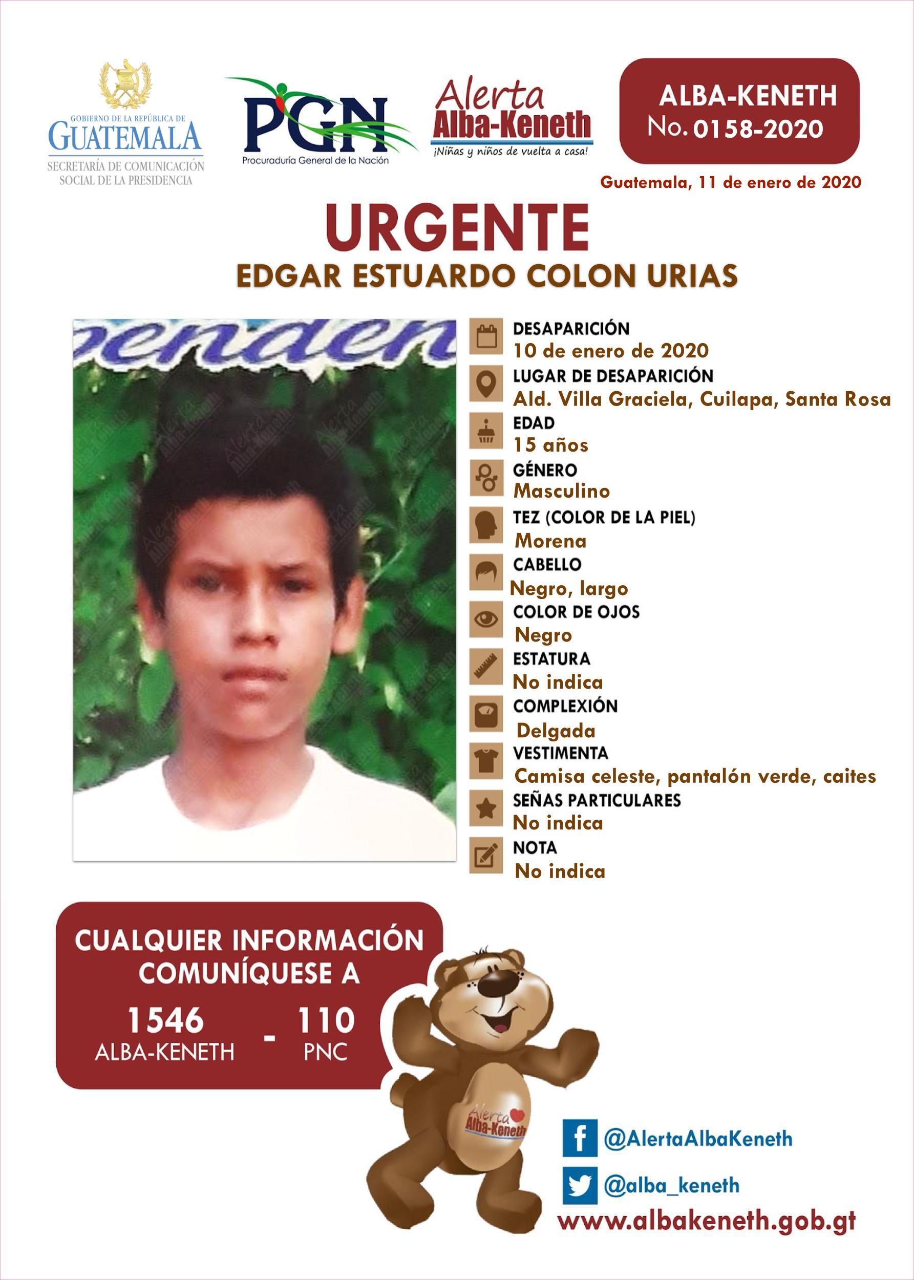 Edgar Estuardo Colon Urias