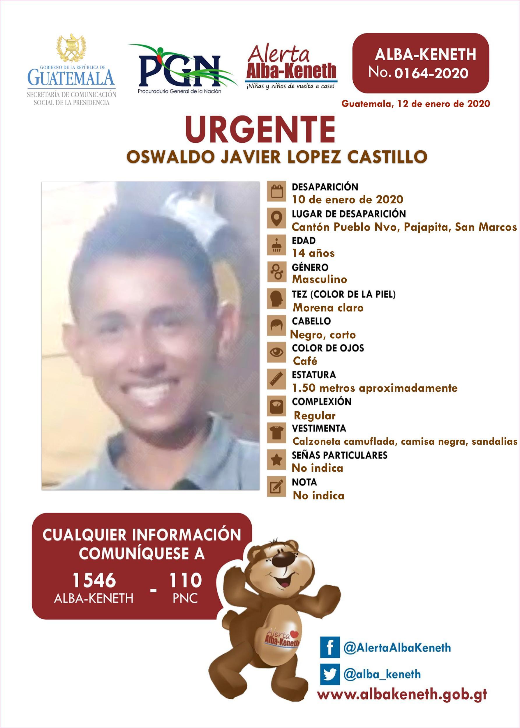 Oswaldo Javier Lopez Castillo