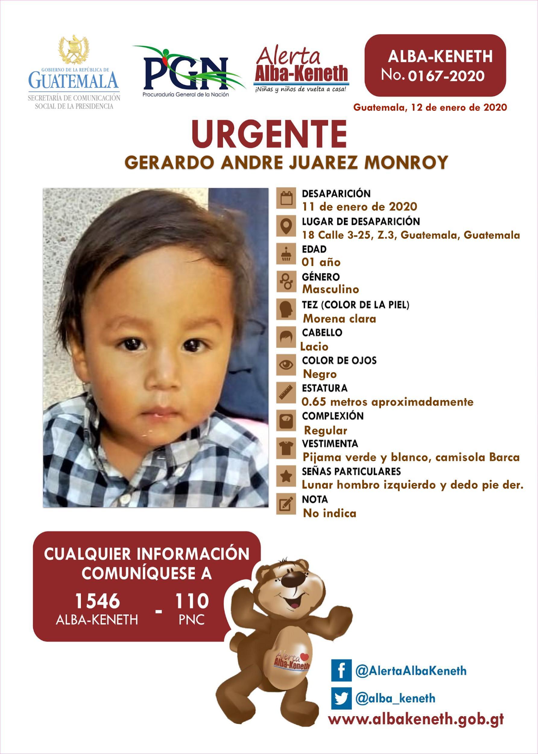 Gerardo Andre Juarez Monroy