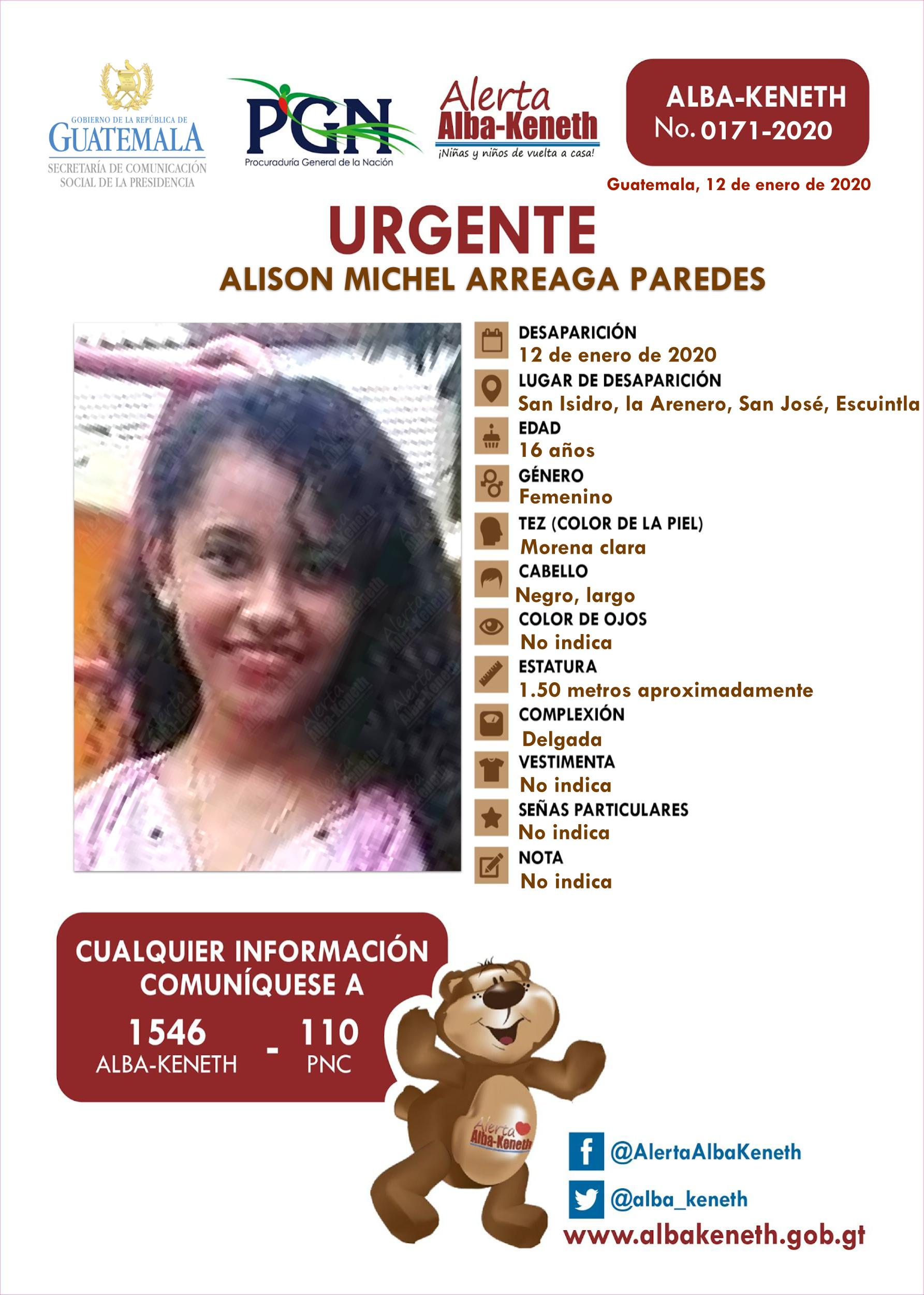 Alison Michel Arreaga Paredes