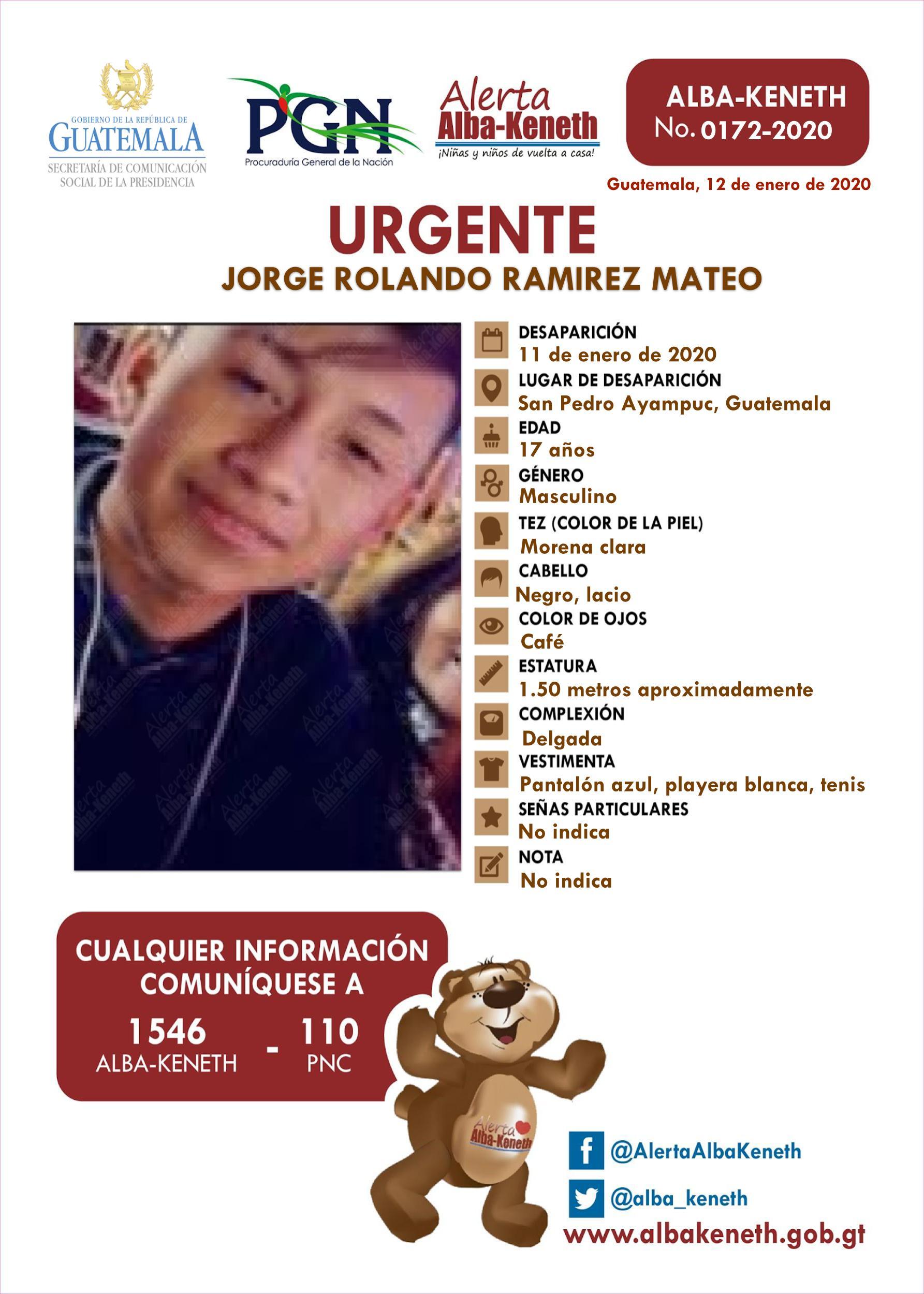Jorge Rolando Ramirez Mateo