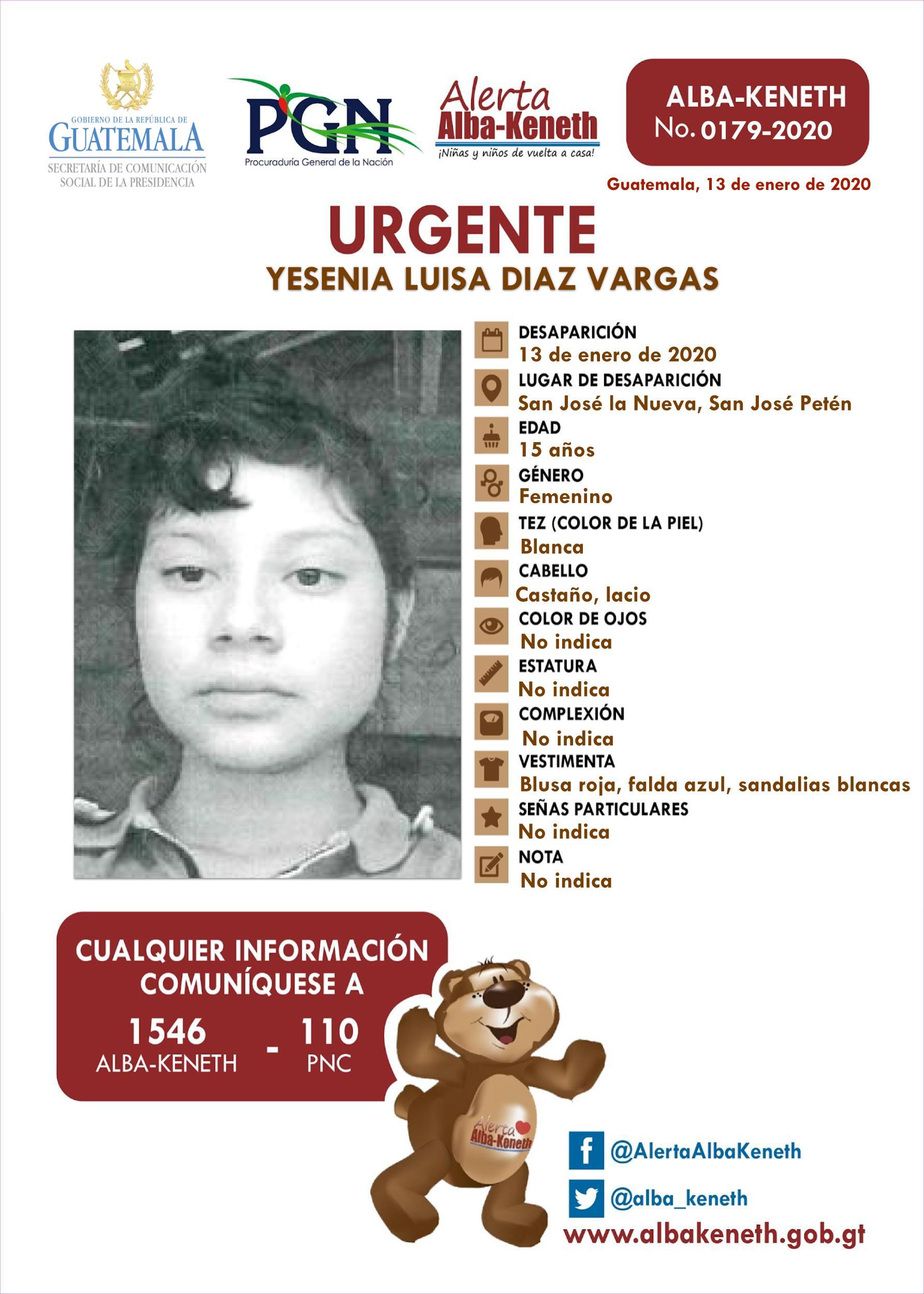 Yesenia Luisa Diaz Vargas