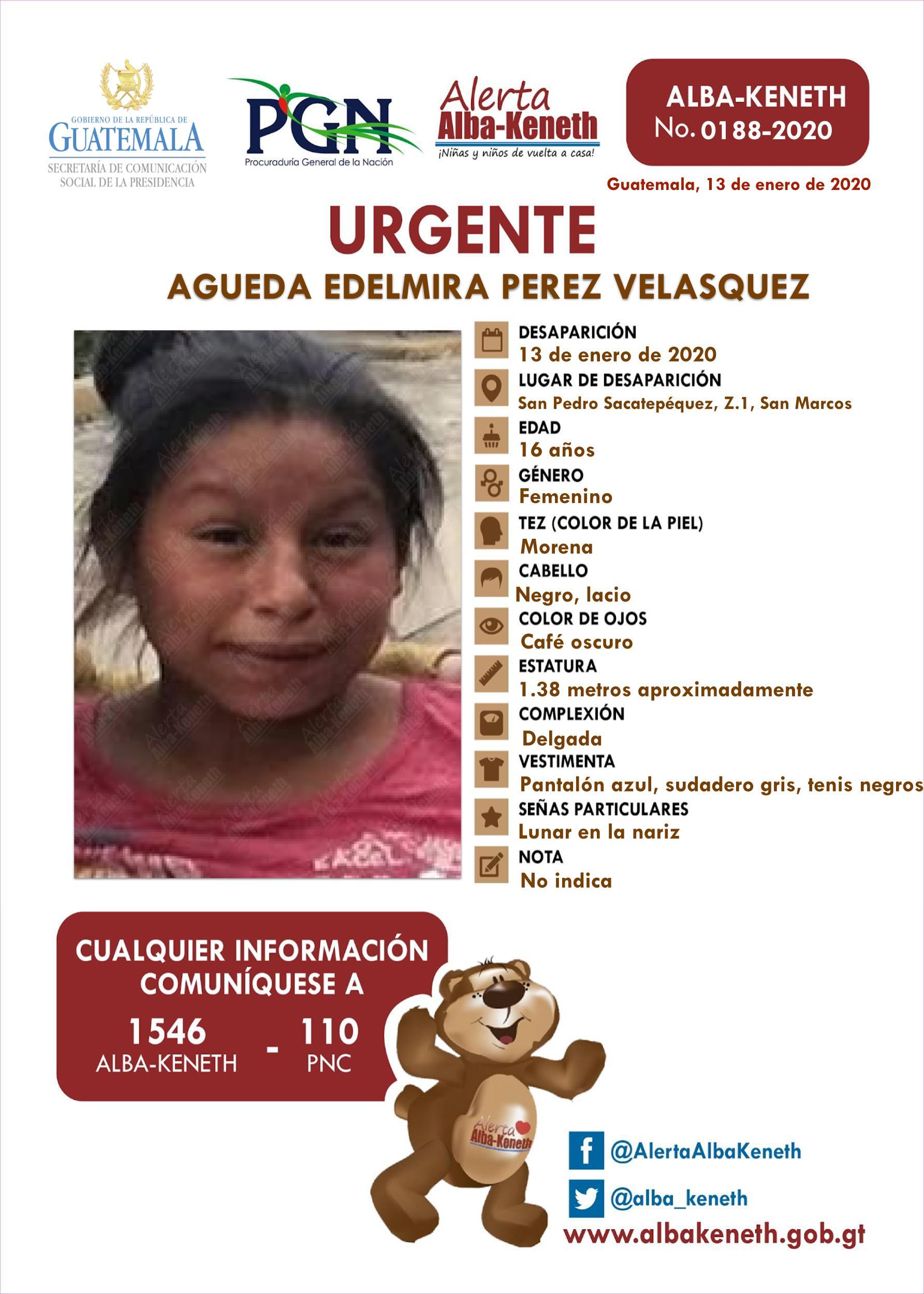 Agueda Edelmira Perez Velasquez