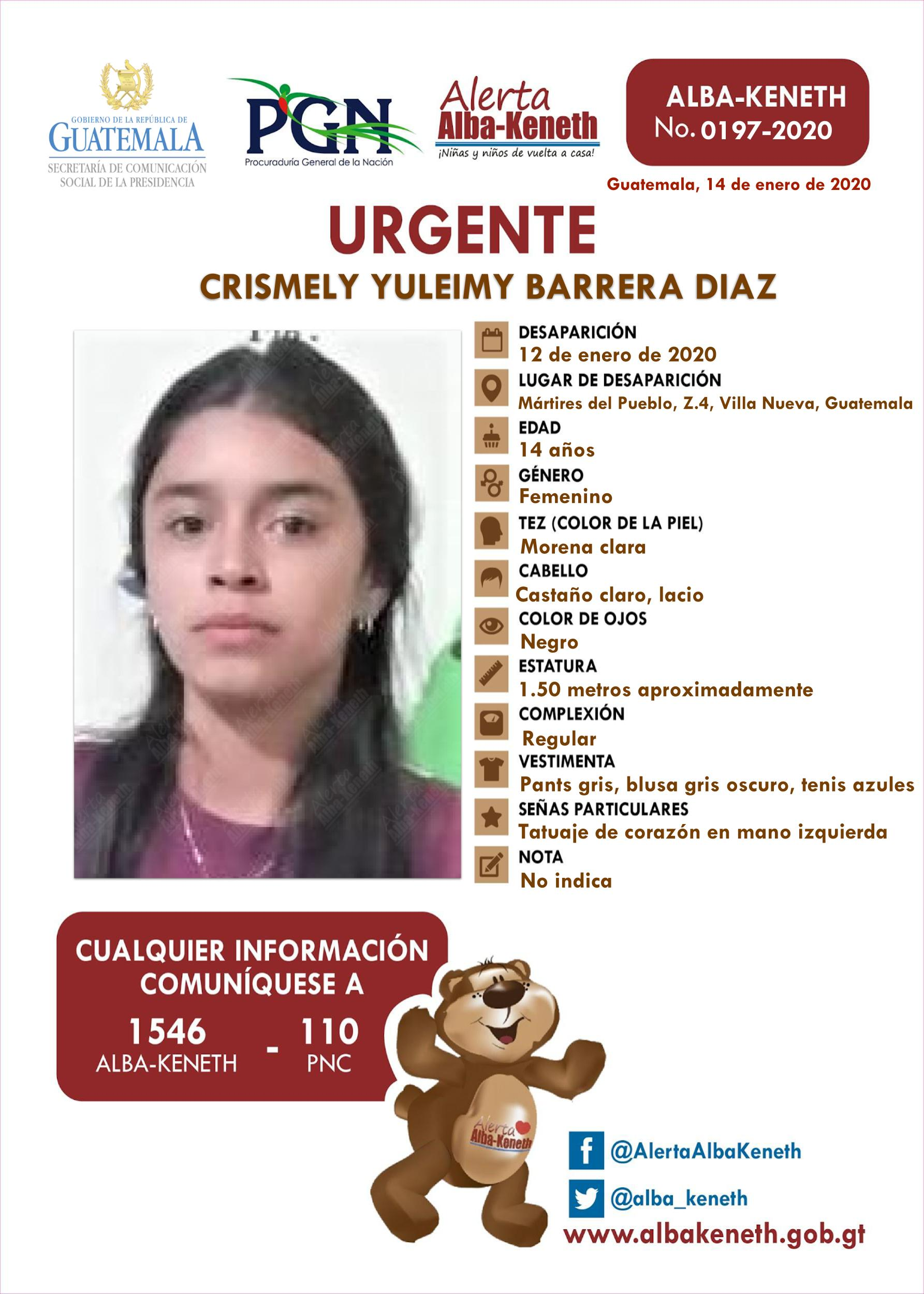 Crismely Yuleimy Barrera Diaz