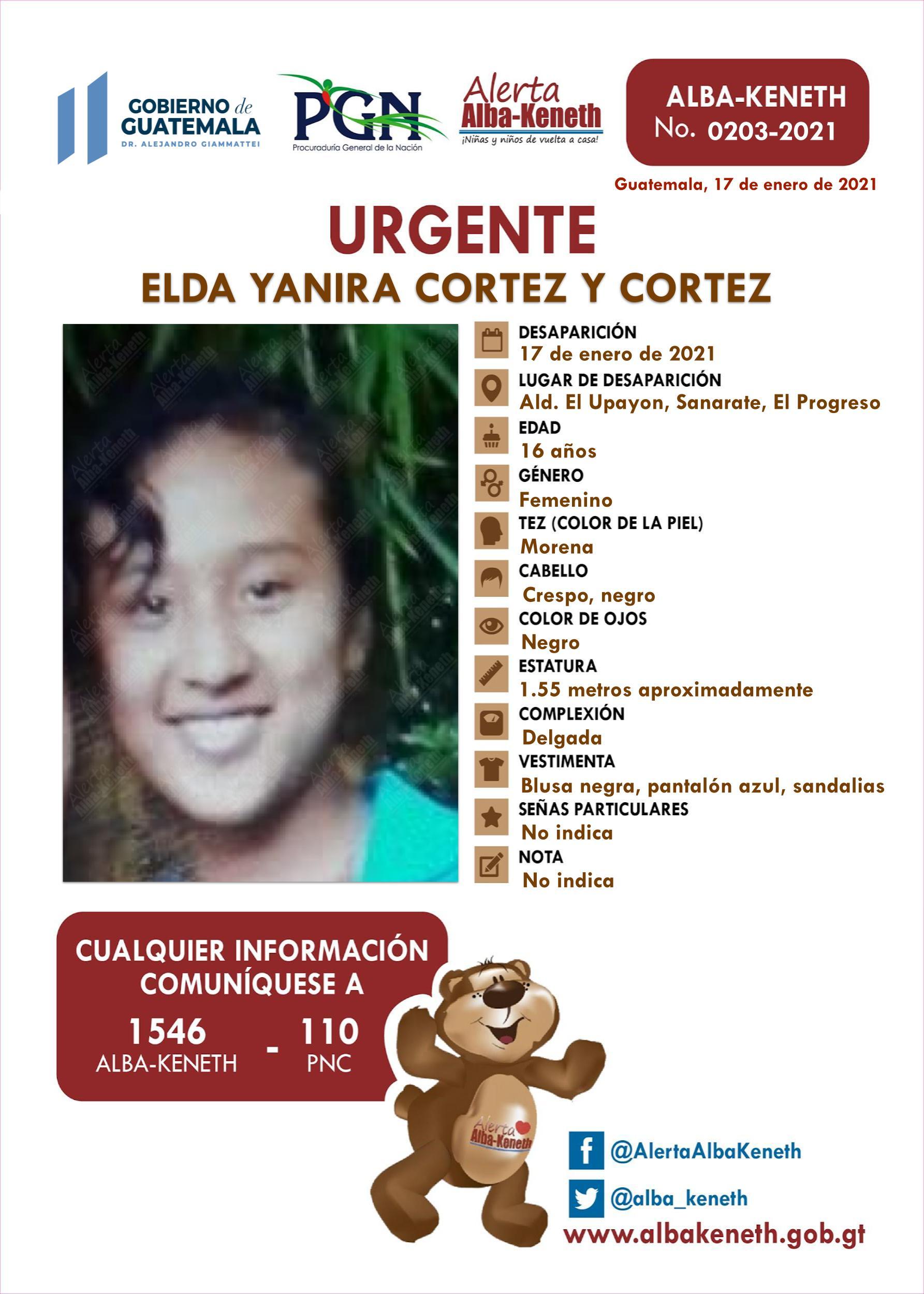 Elda Yanira Cortez y Cortez