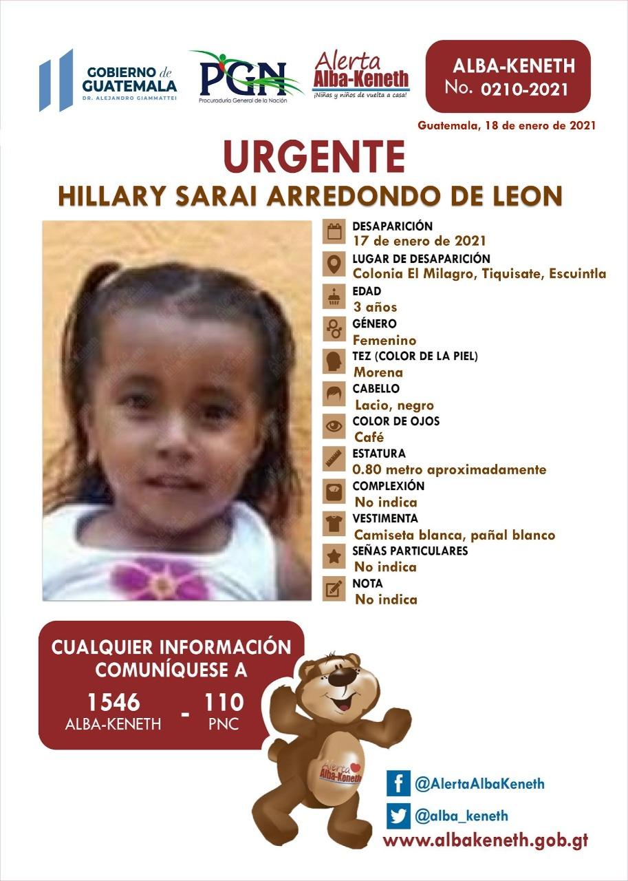 Hillary Sarai Arredondo de Leon