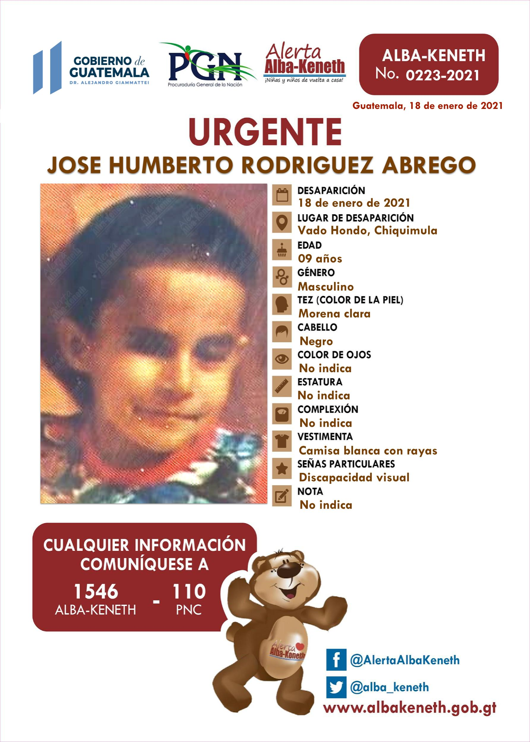 Jose Humberto Rodriguez Abrego