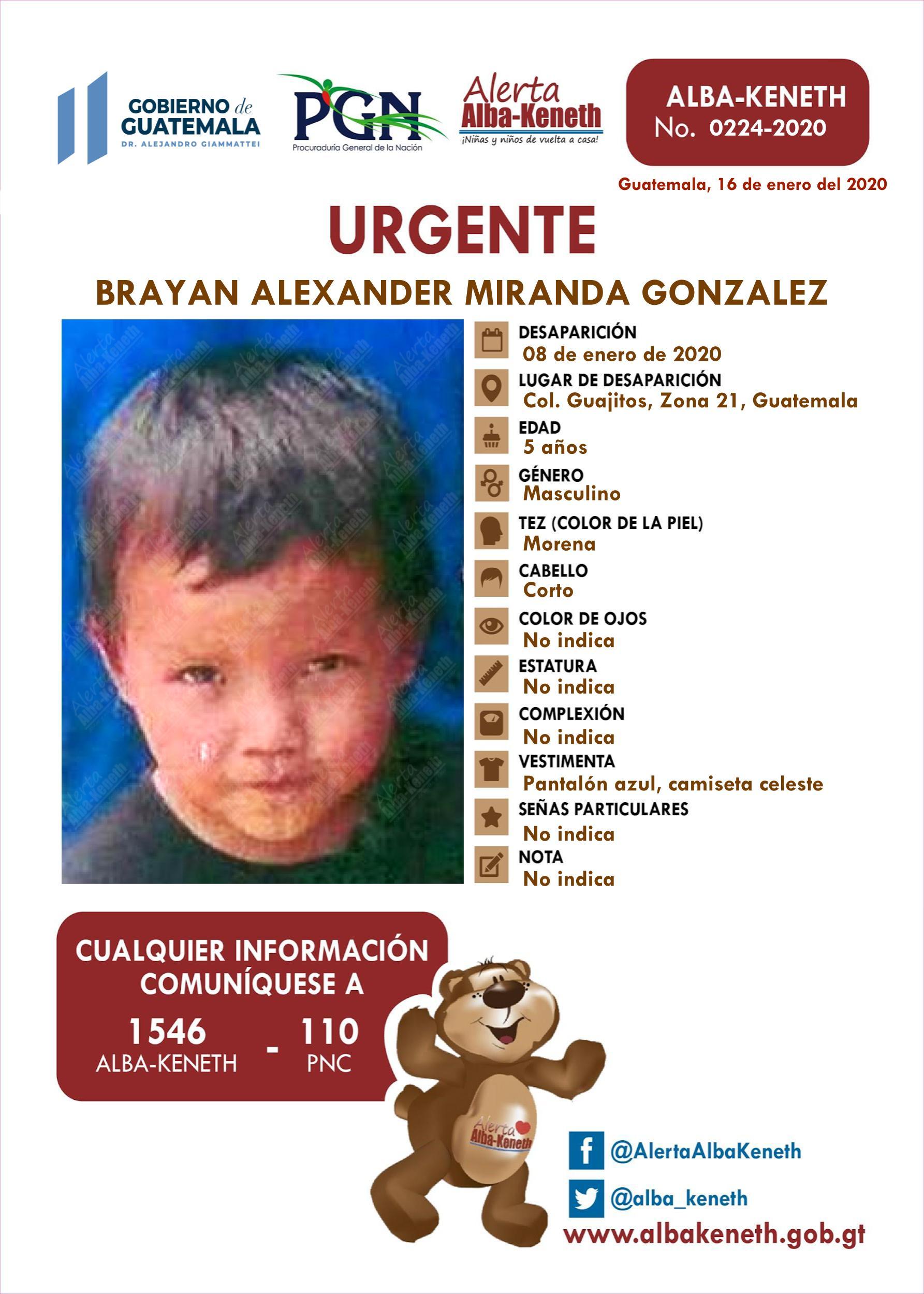 Brayan Alexander Miranda Gonzalez