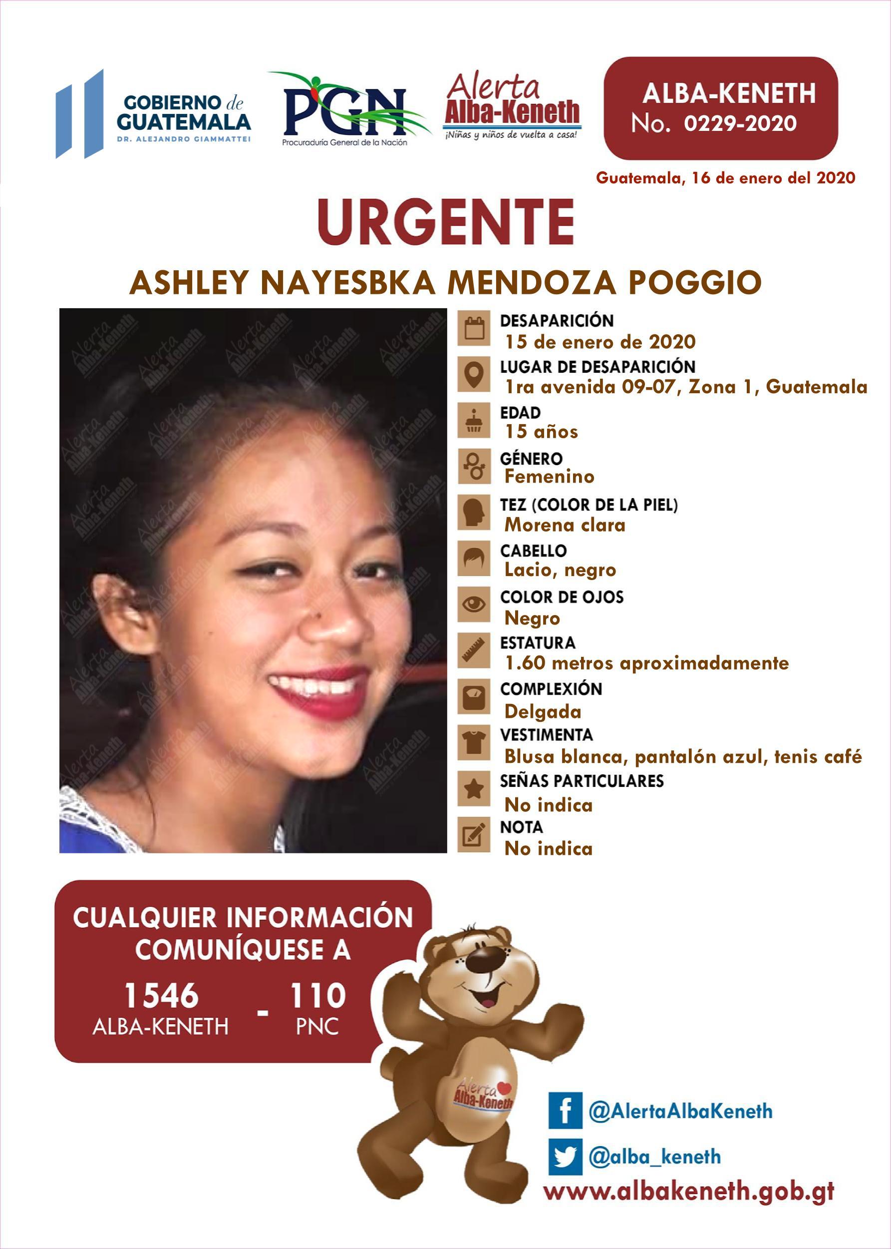 Ashley Nayesbka Mendoza Poggio