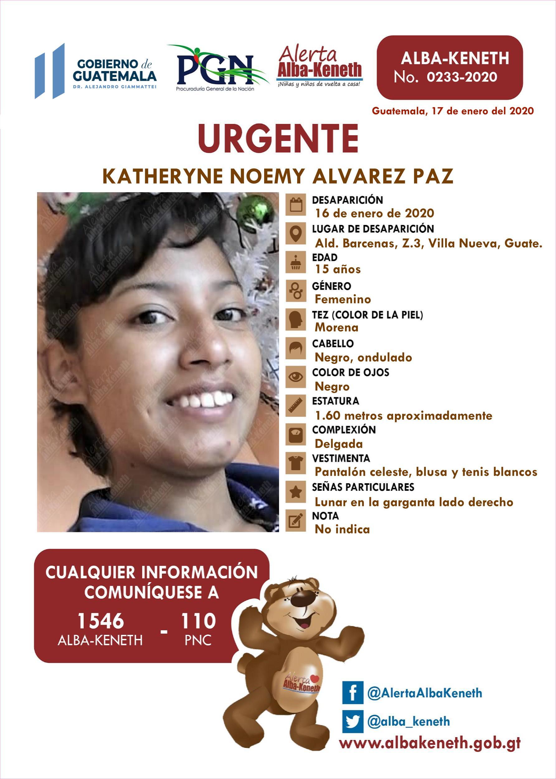 Katheryne Noemy Alvarez Paz