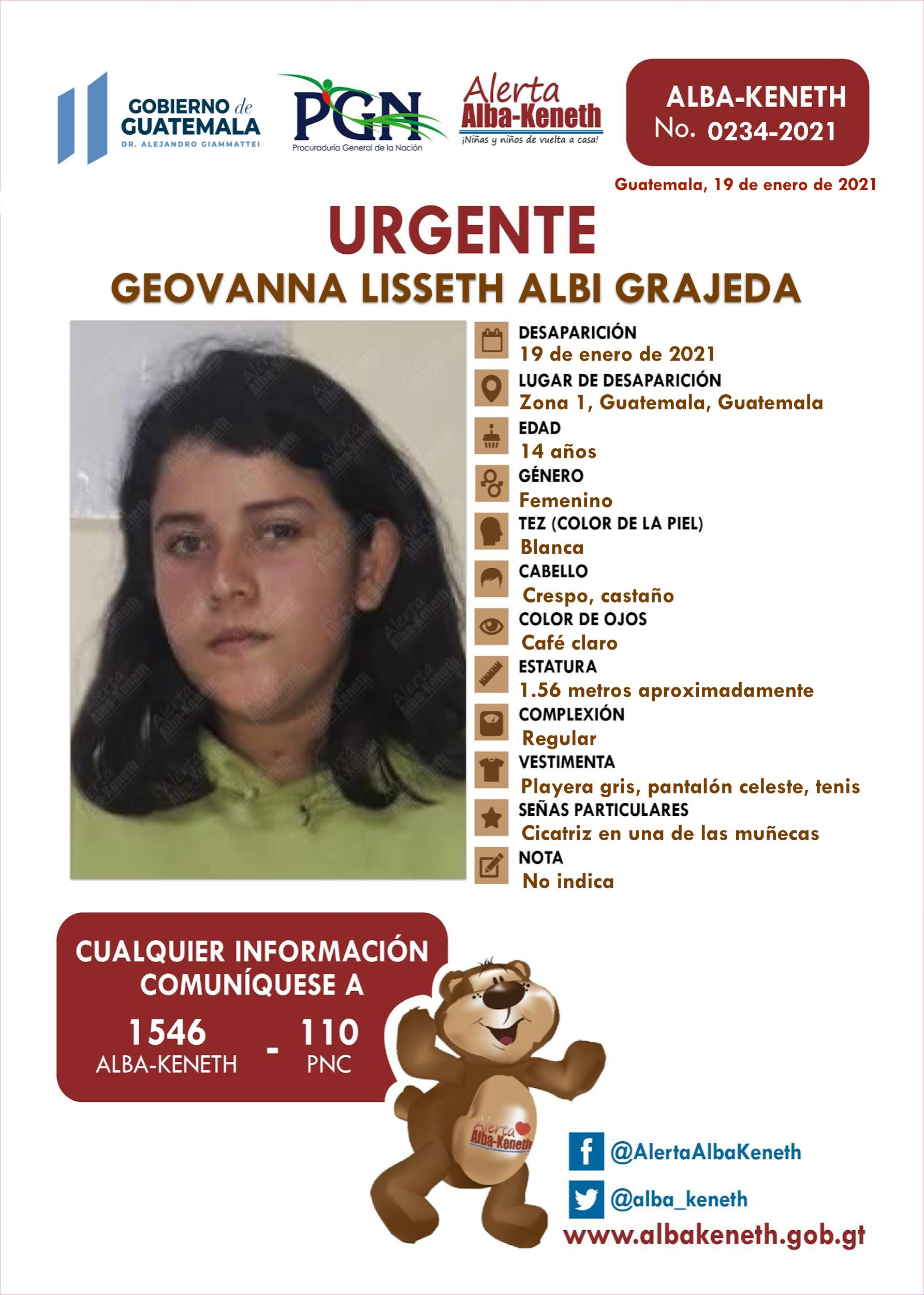 Geovanna Lisseth Albi Grajeda