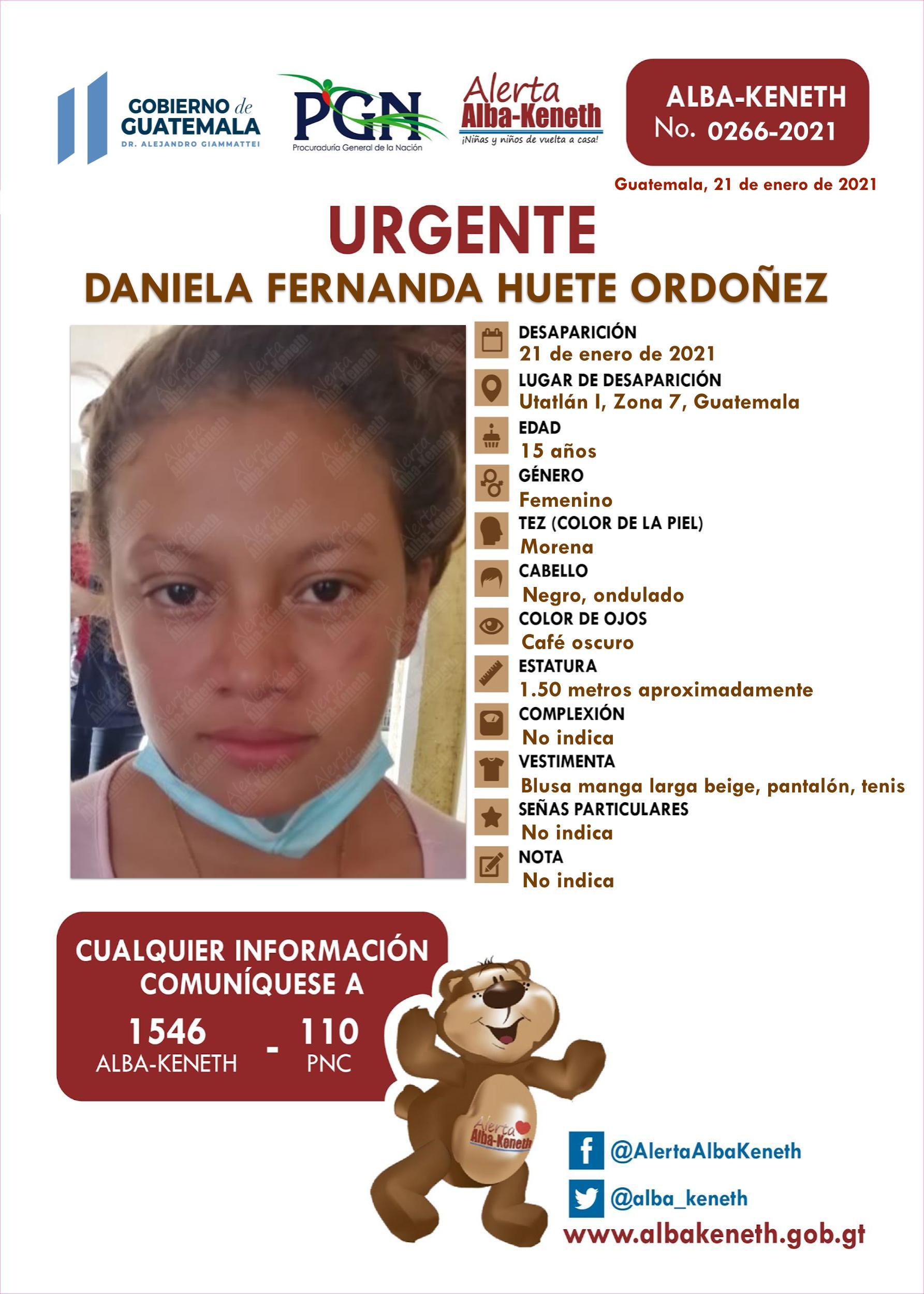 Daniela Fernanda Huete Ordoñez