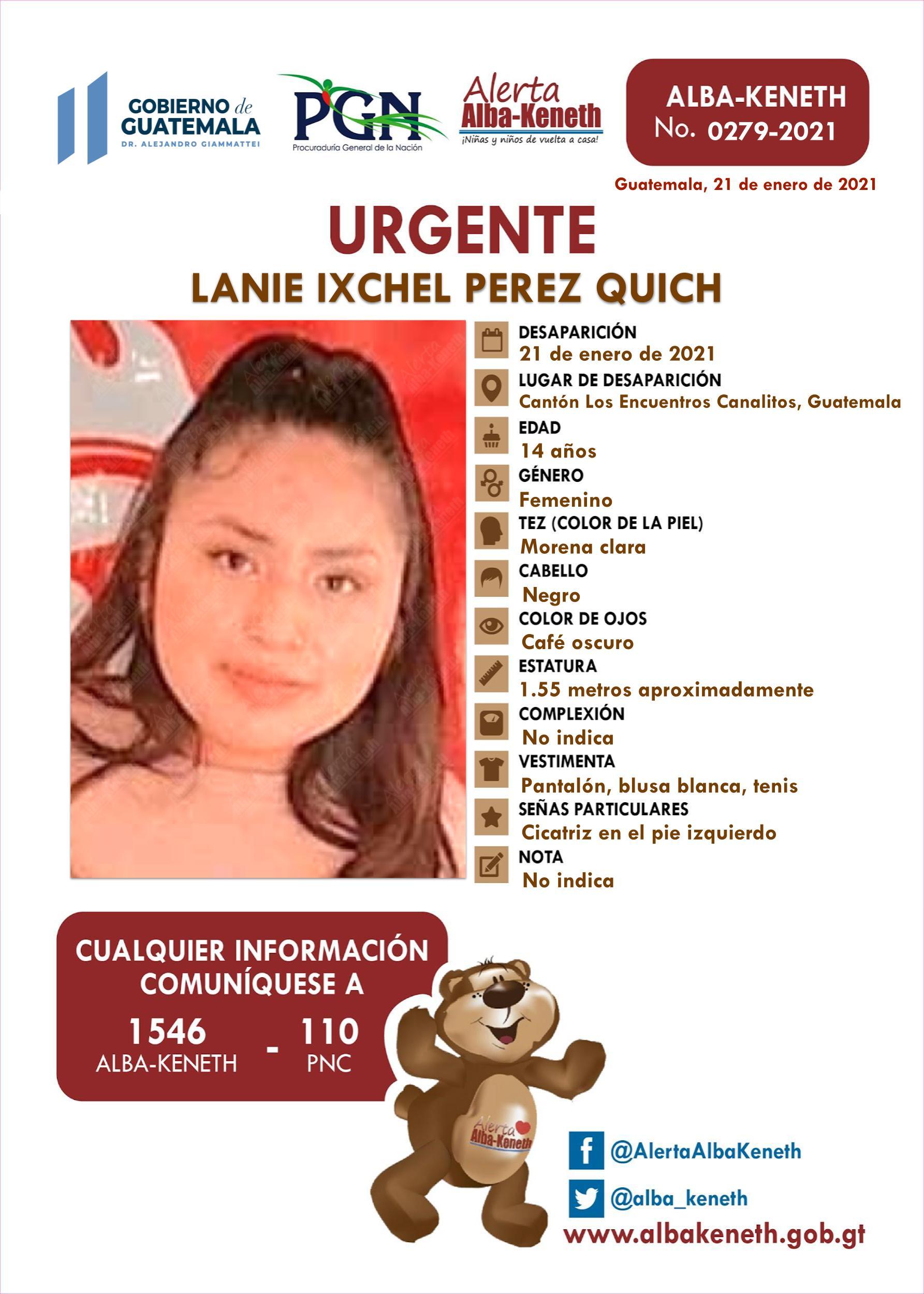 Lanie Ixchel Perez Quich