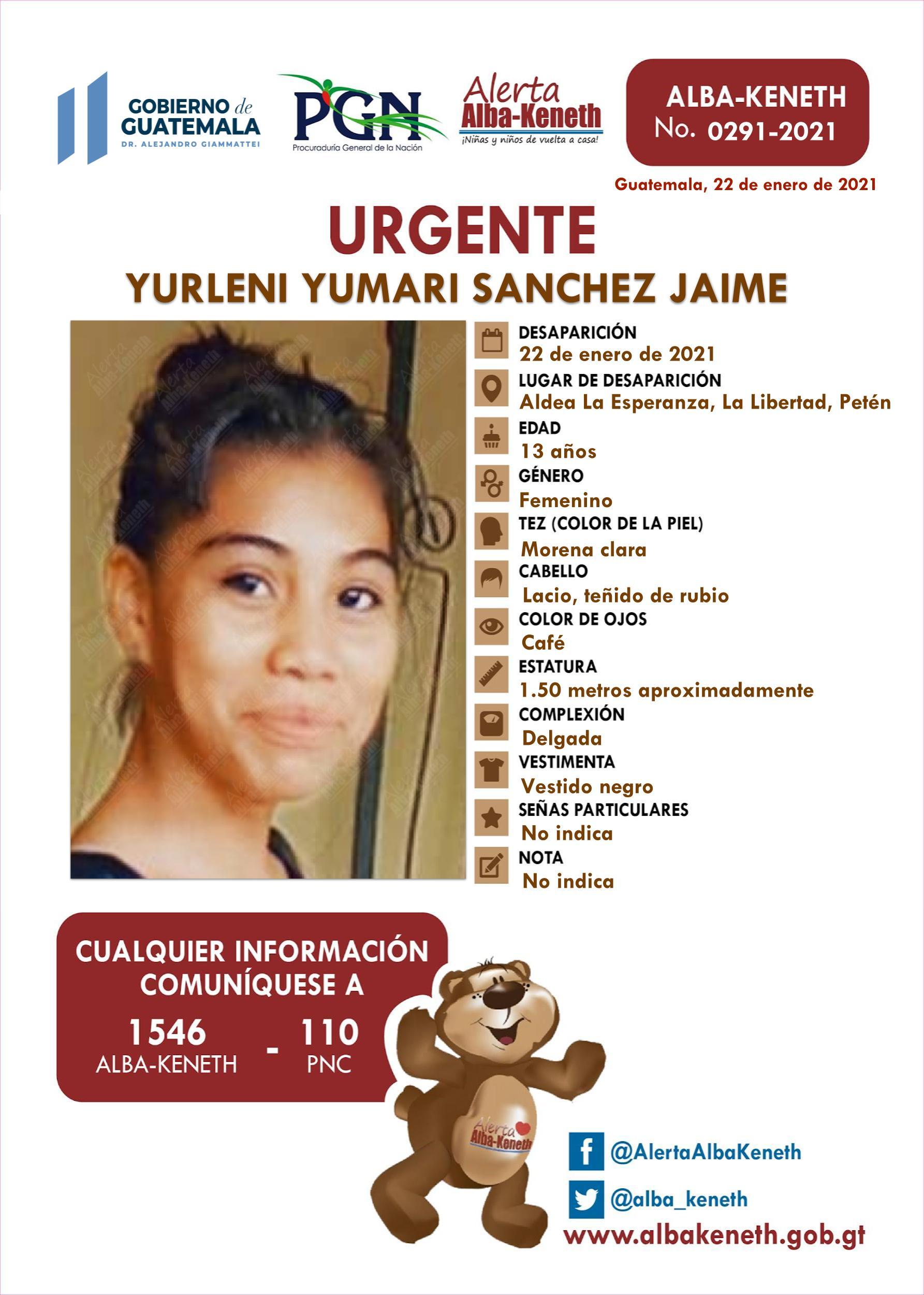 Yurleni Yumari Sanchez Jaime