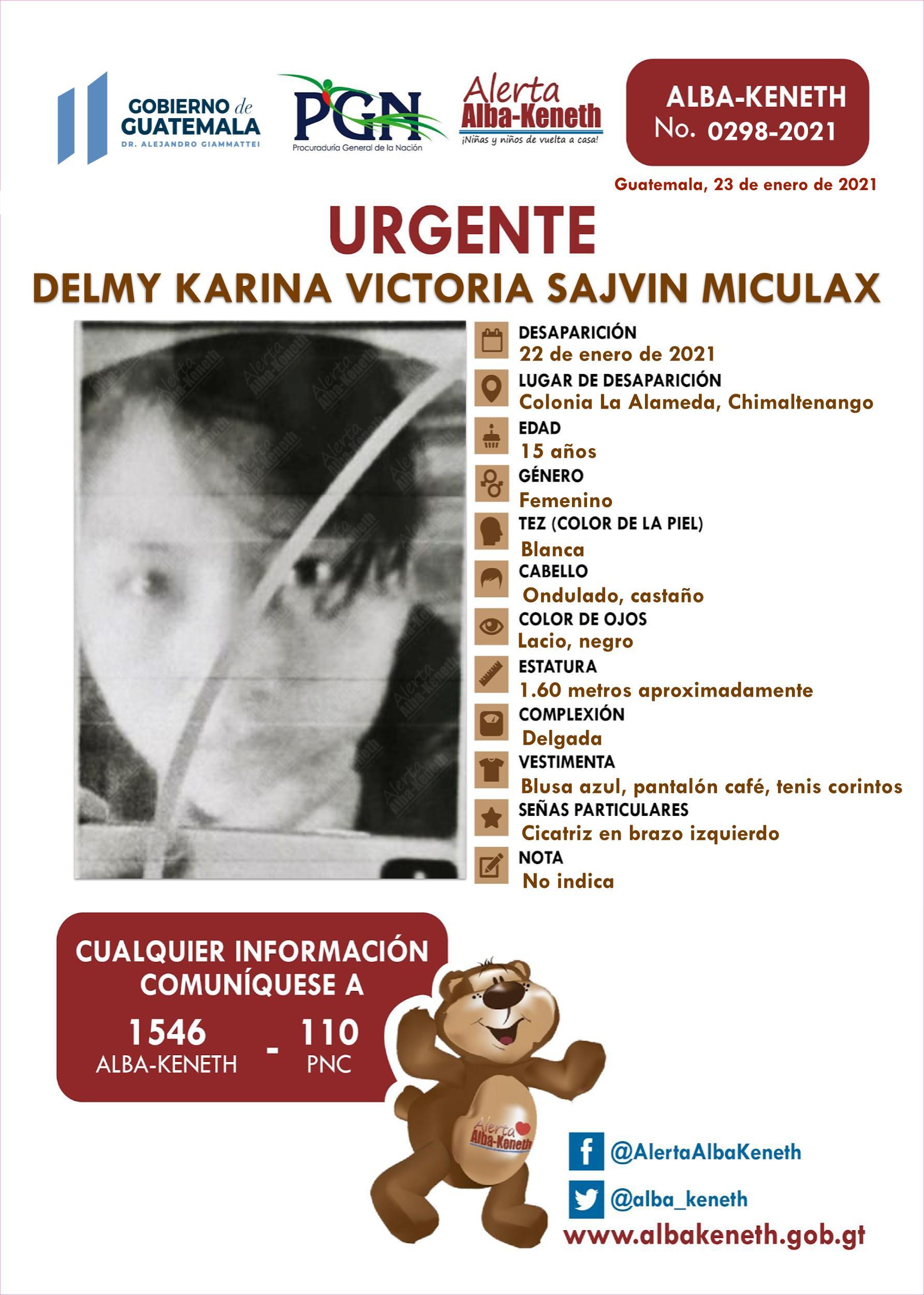 Delmy Karina Victoria Sajvin Miculax