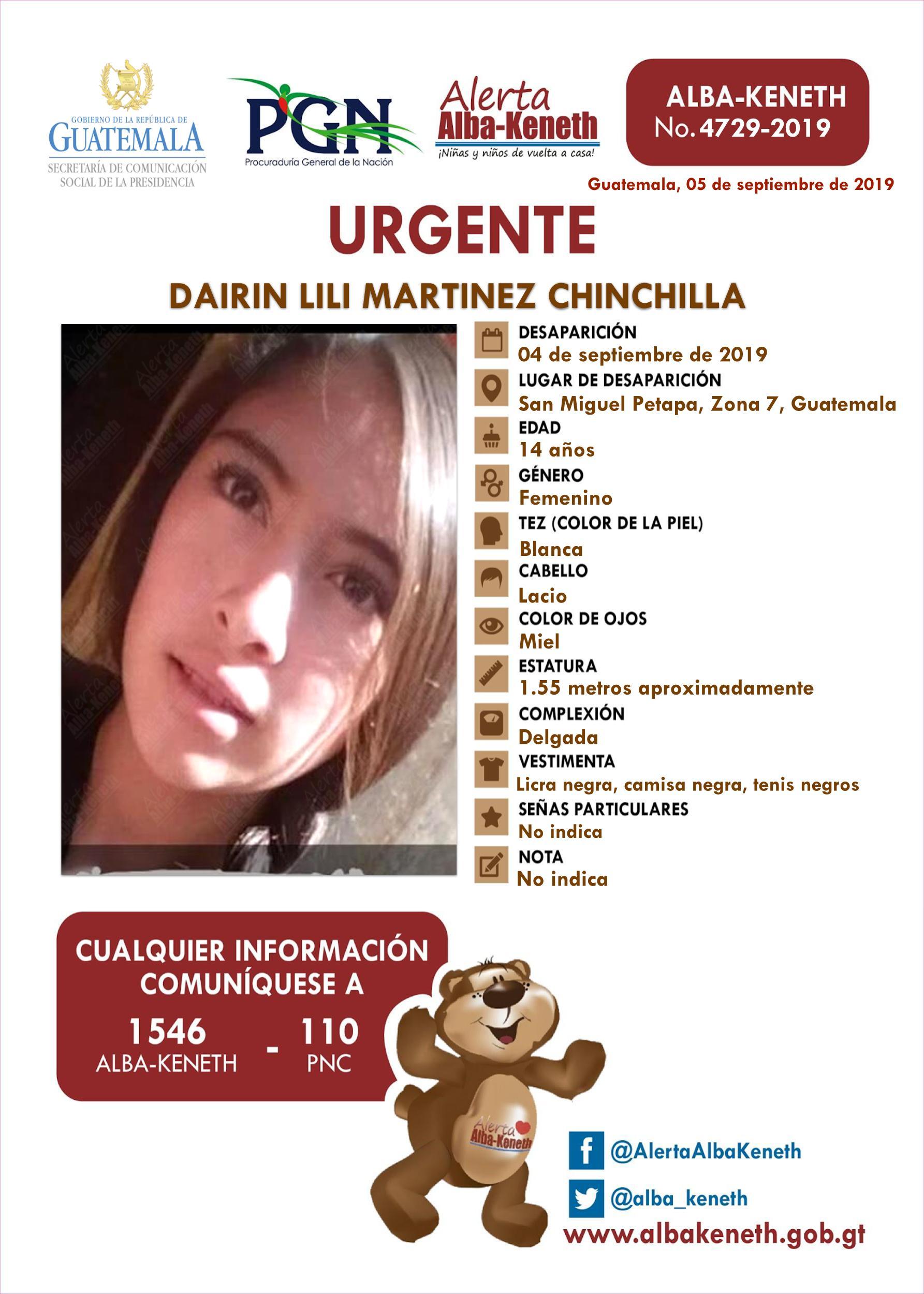 Dairin Lili Martinez Chinchilla