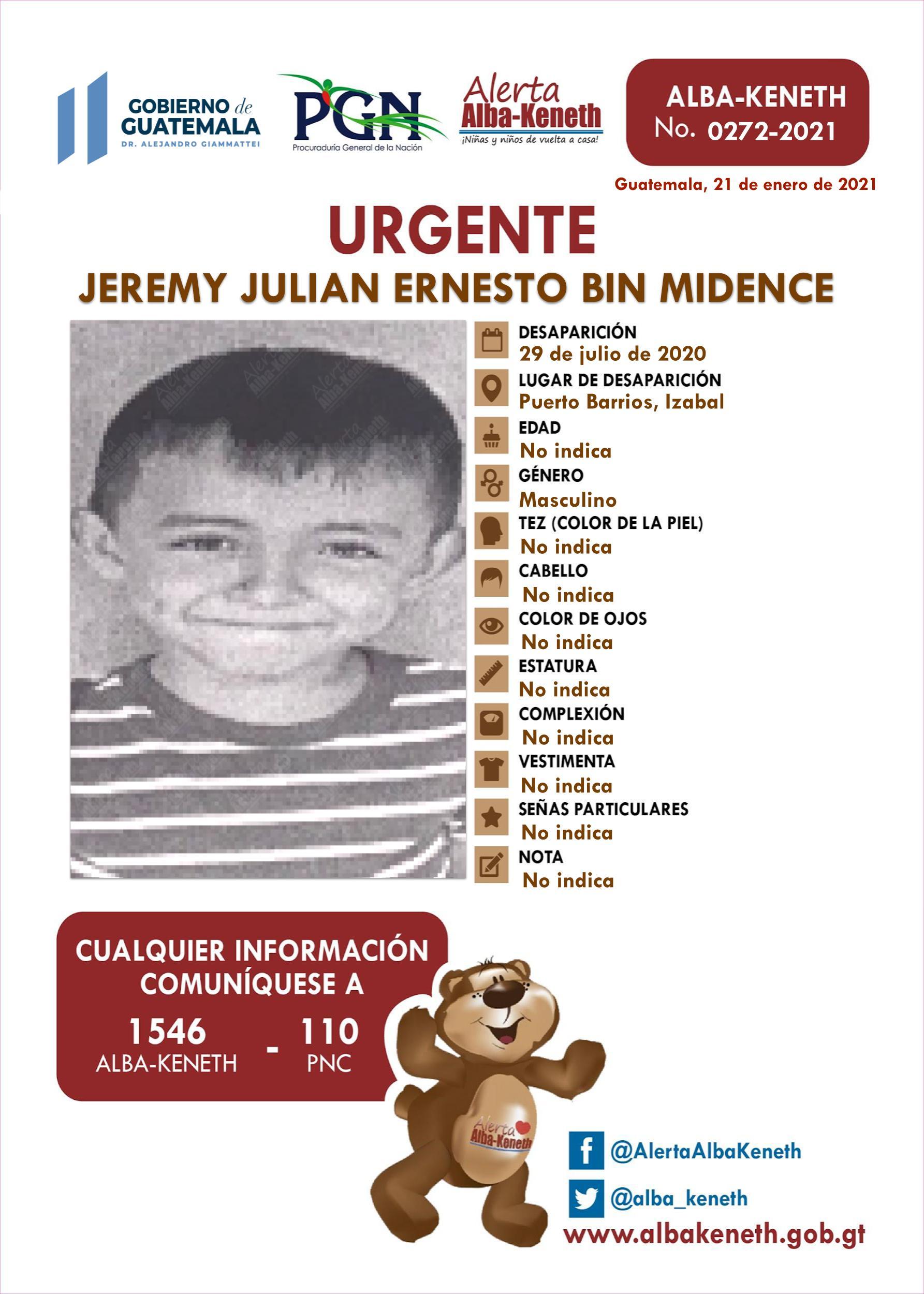 Jeremy Julian Ernesto Bin Midence