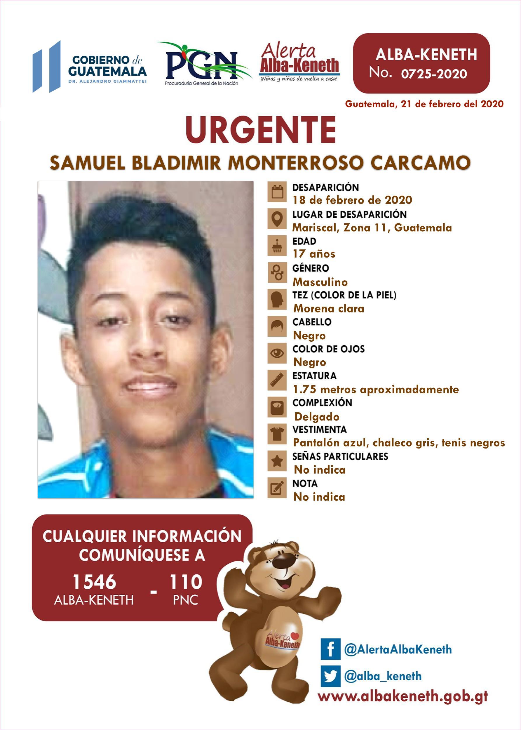 Samuel Bladimir Monterroso Carcamo
