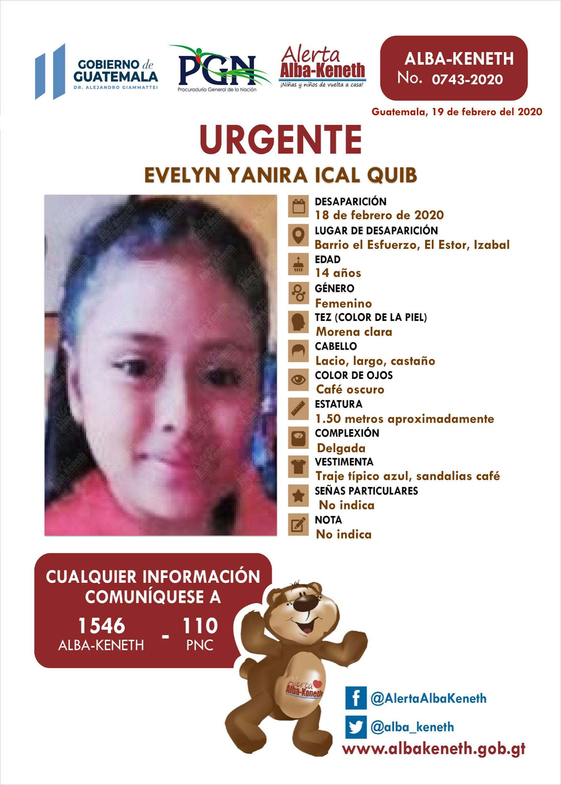 Evelyn Yanira Ical Quib