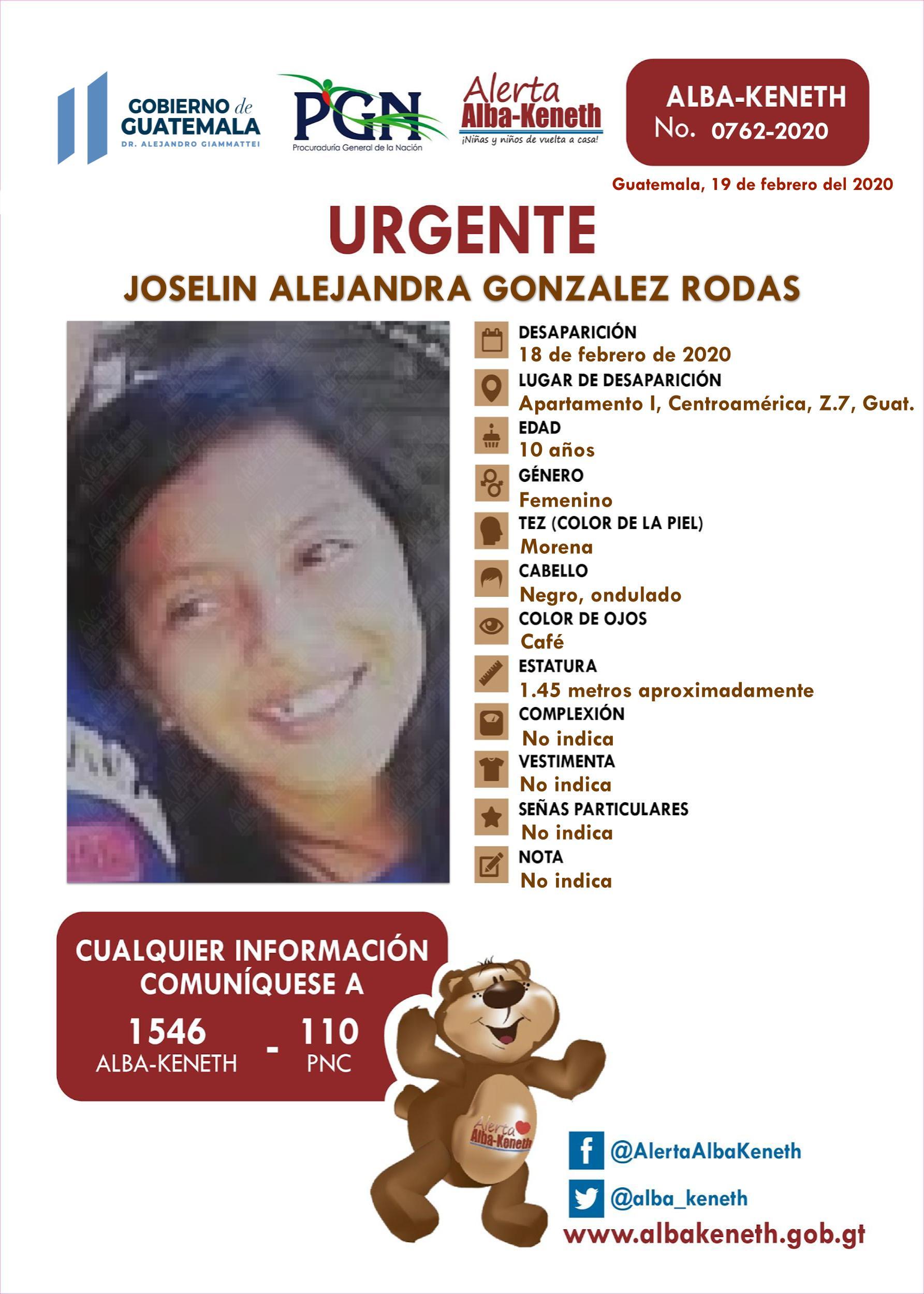 Joselin Alejandra Gonzalez Rodas