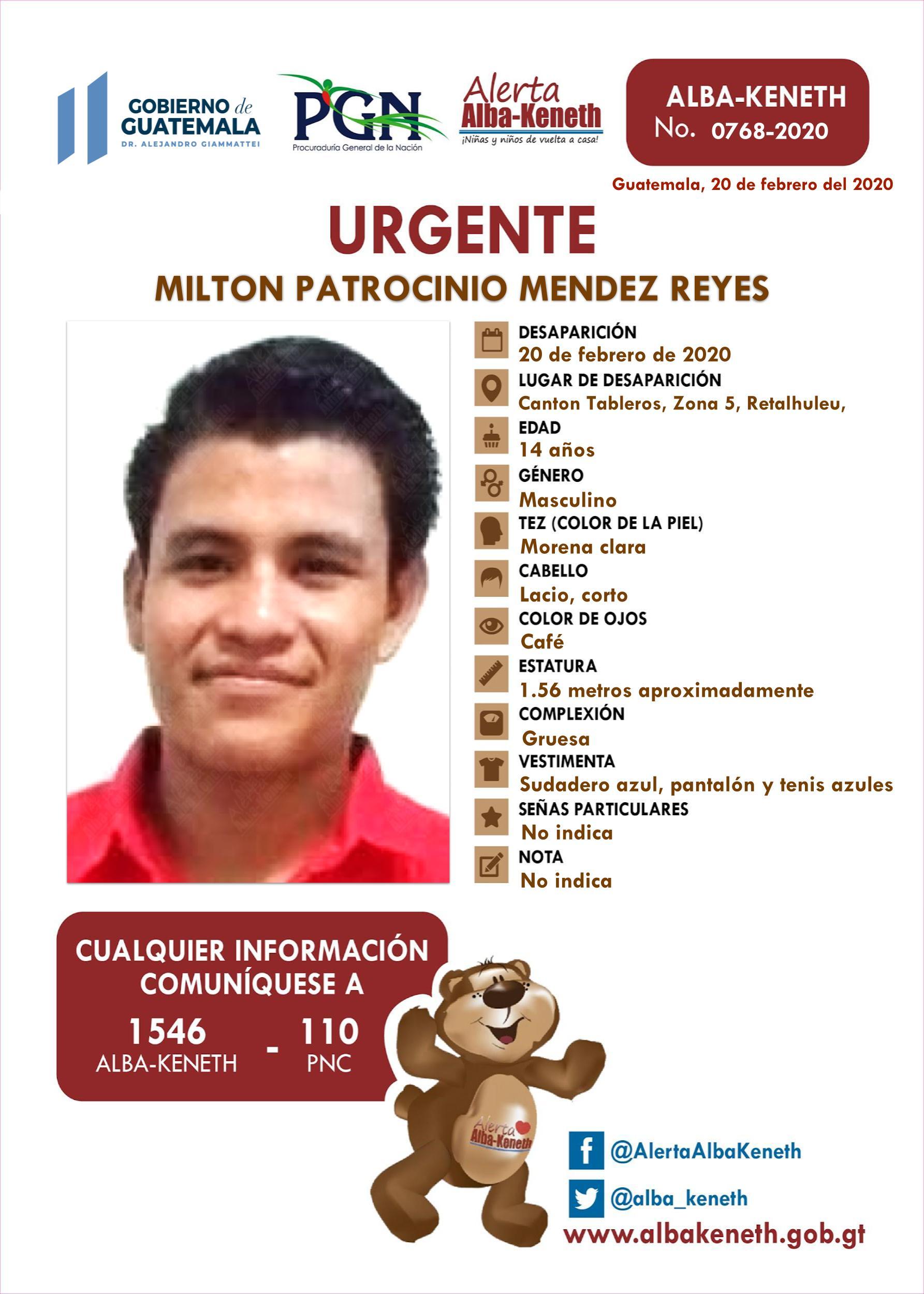 Milton Patrocinio Mendez Reyes