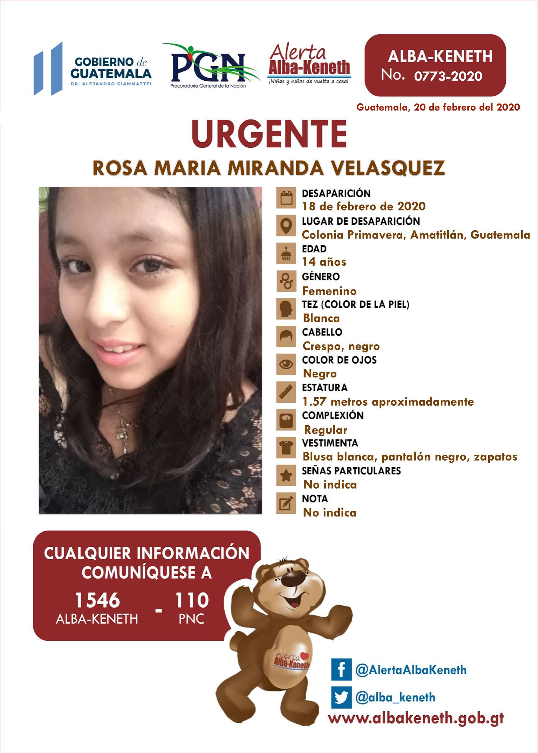 Rosa Maria Miranda Velasquez
