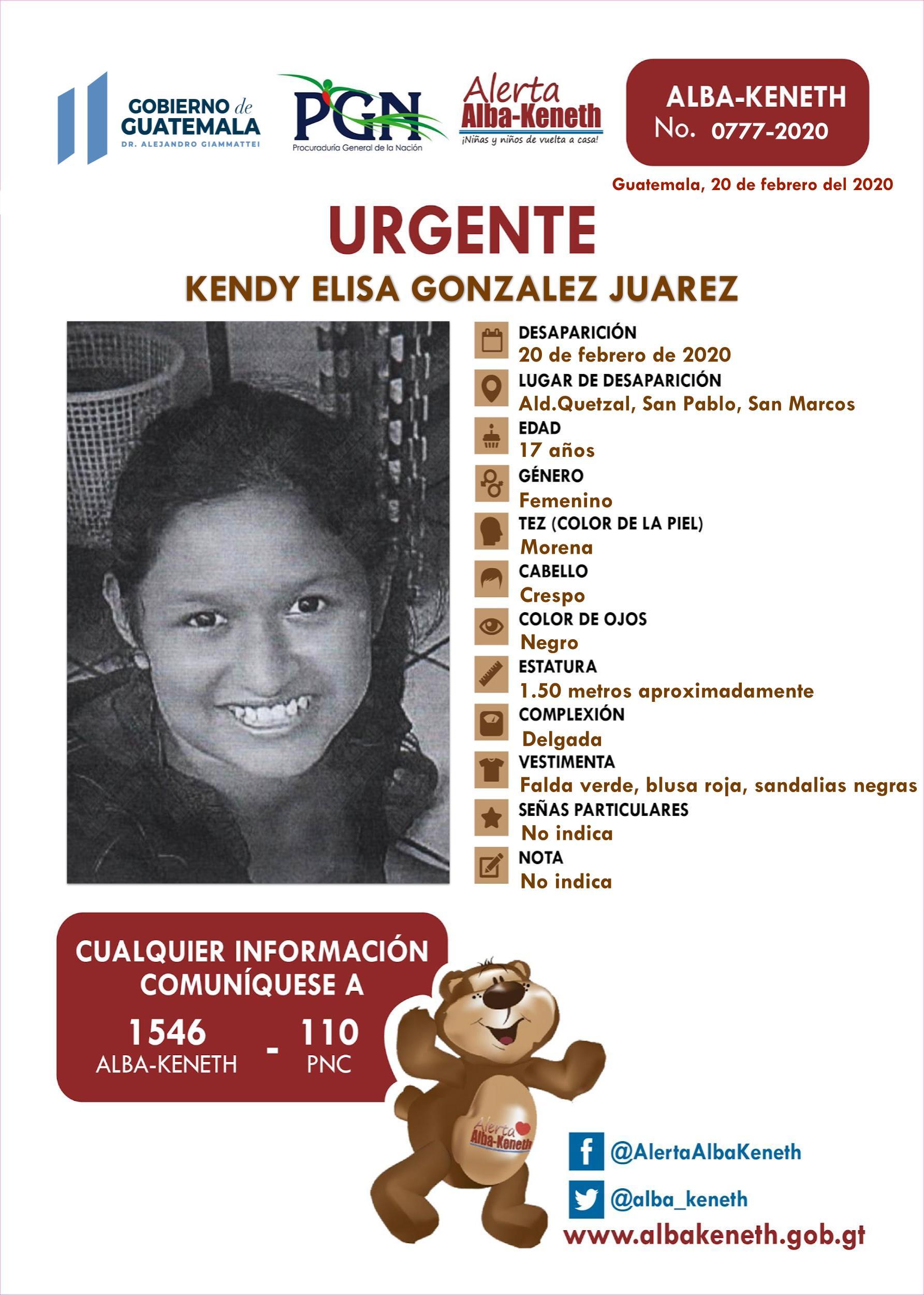 Kendy Elisa Gonzalez Juarez