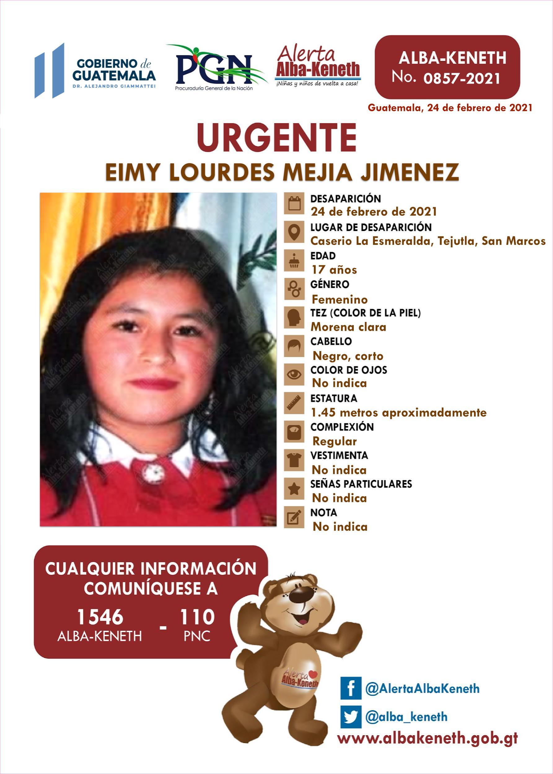 Eimy Lourdes Mejia Jimenez