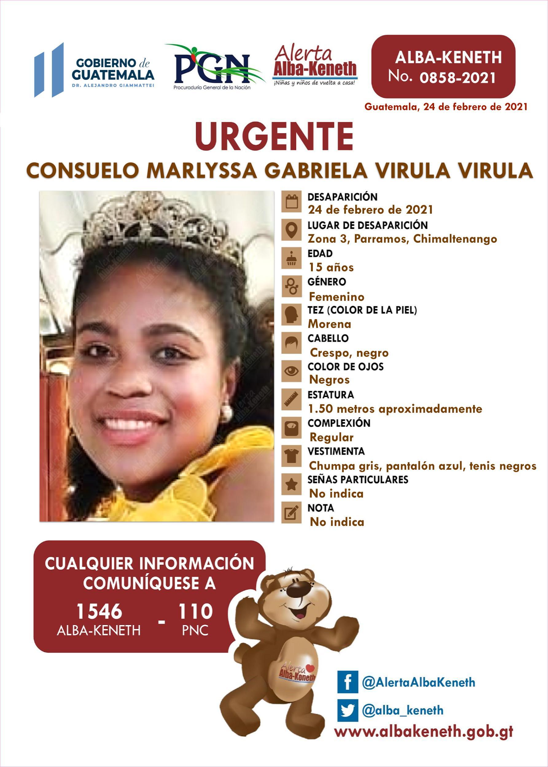Consuelo Marlyssa Gabriela Virula Virula