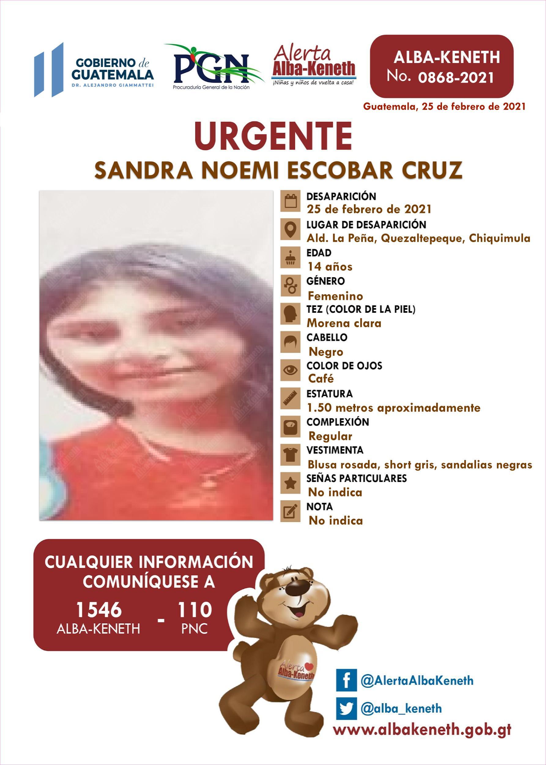 Sandra Noemi Escobar Cruz