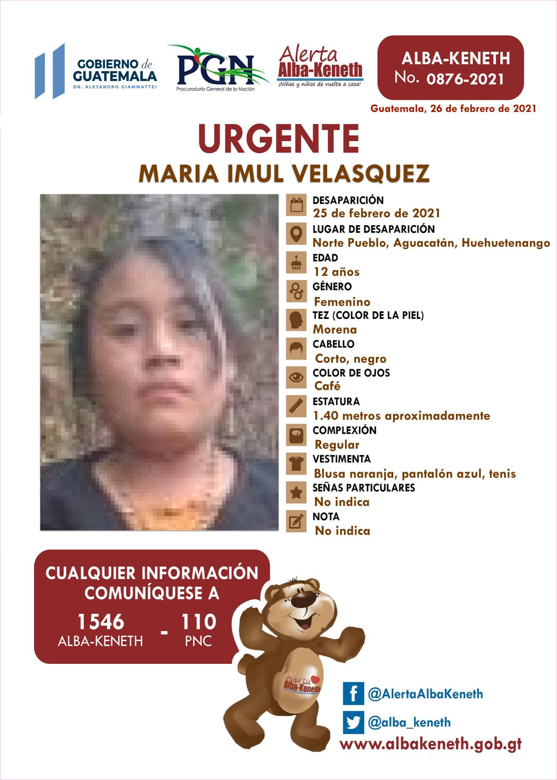 Maria Imul Velasquez
