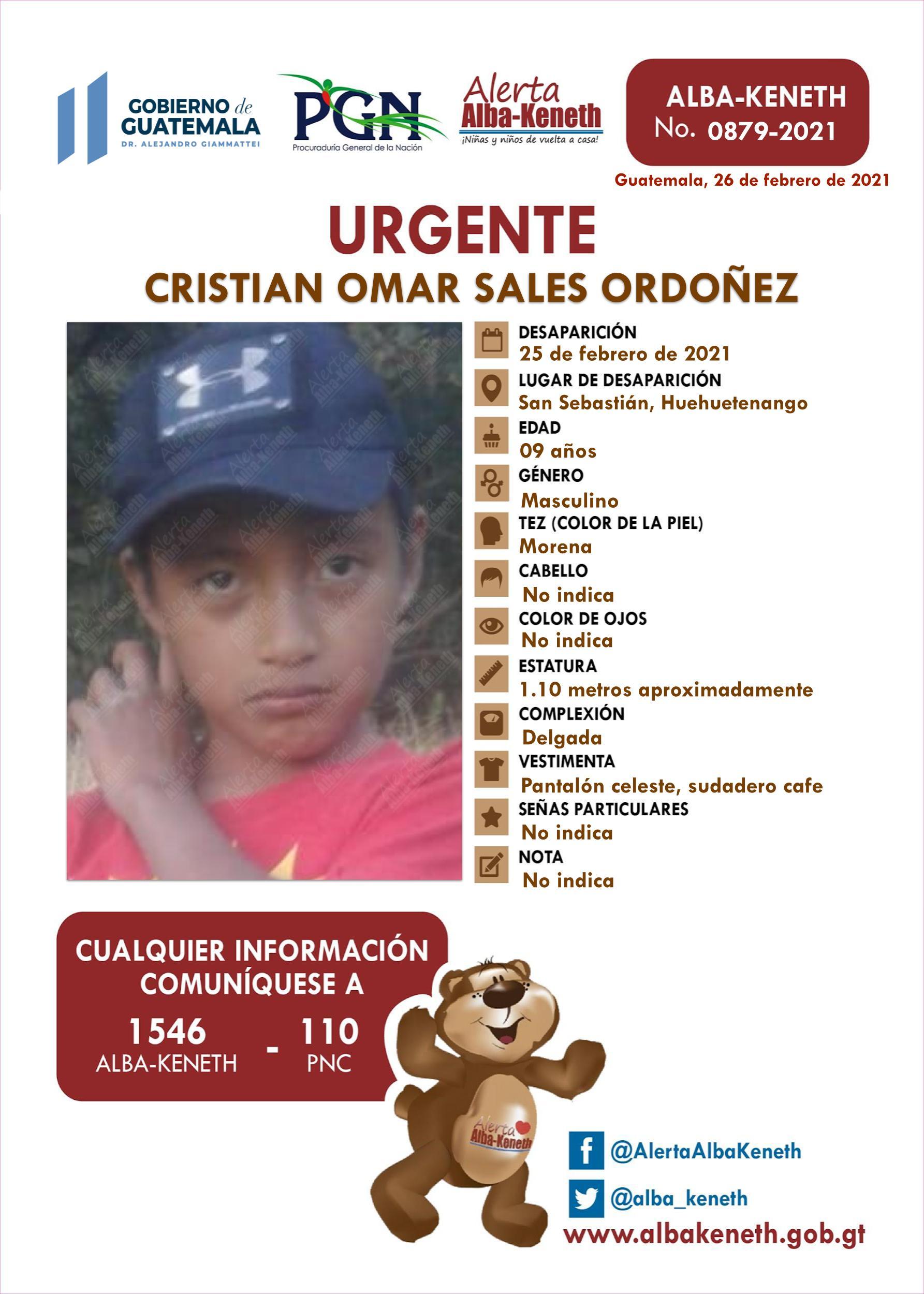 Cristian Omar Sales Ordoñez