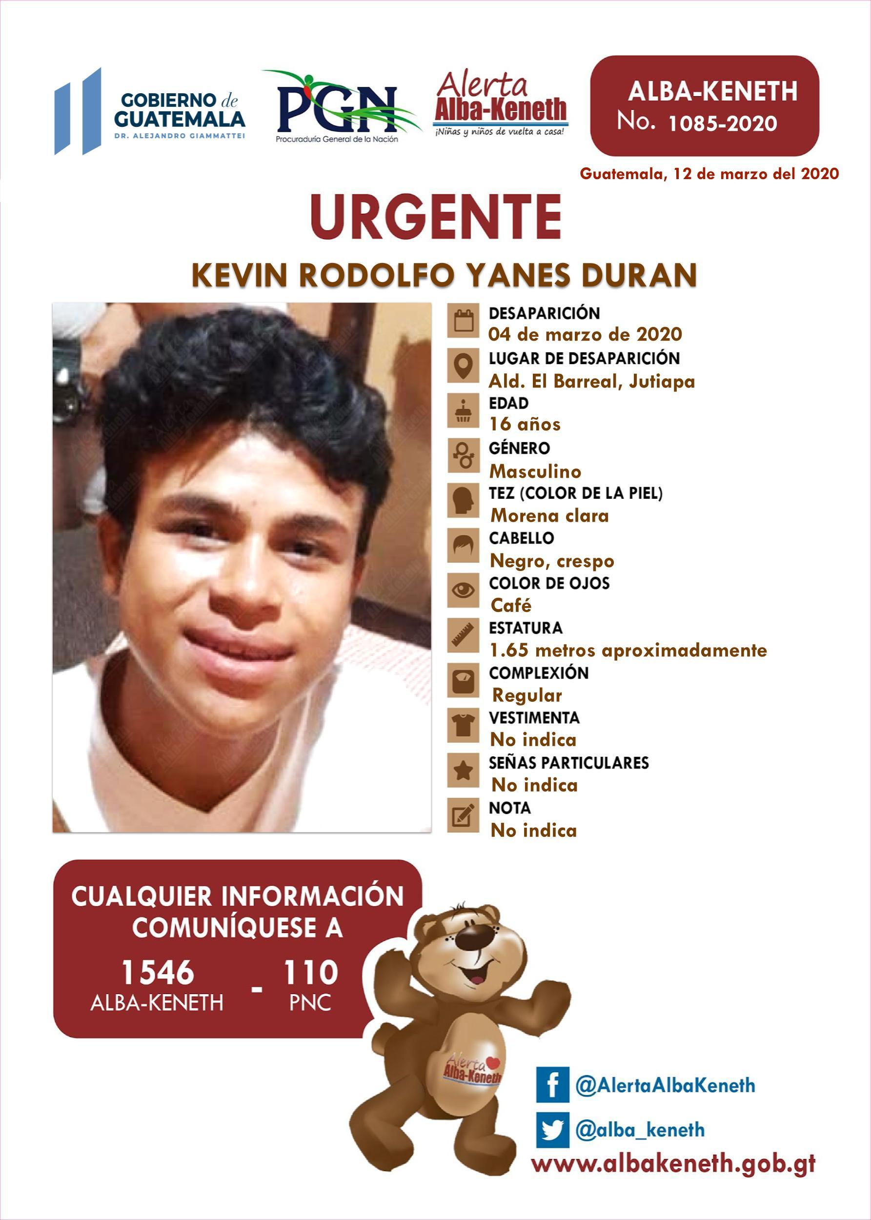 Kevin Rodolfo Yanes Duran
