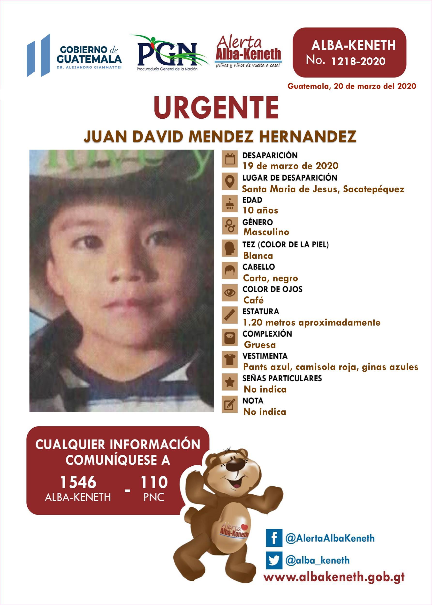 Juan David Mendez Hernandez