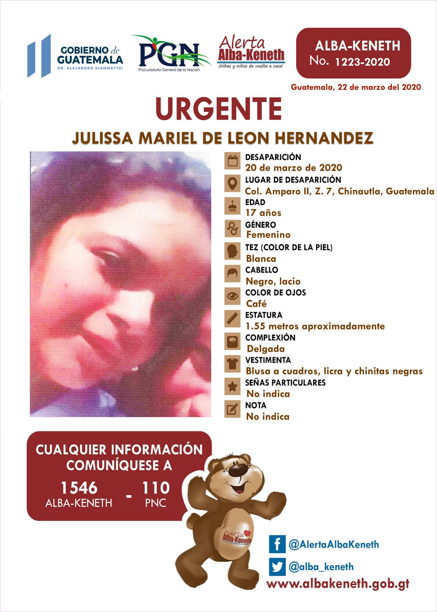 Julissa Mariel de Leon Hernandez