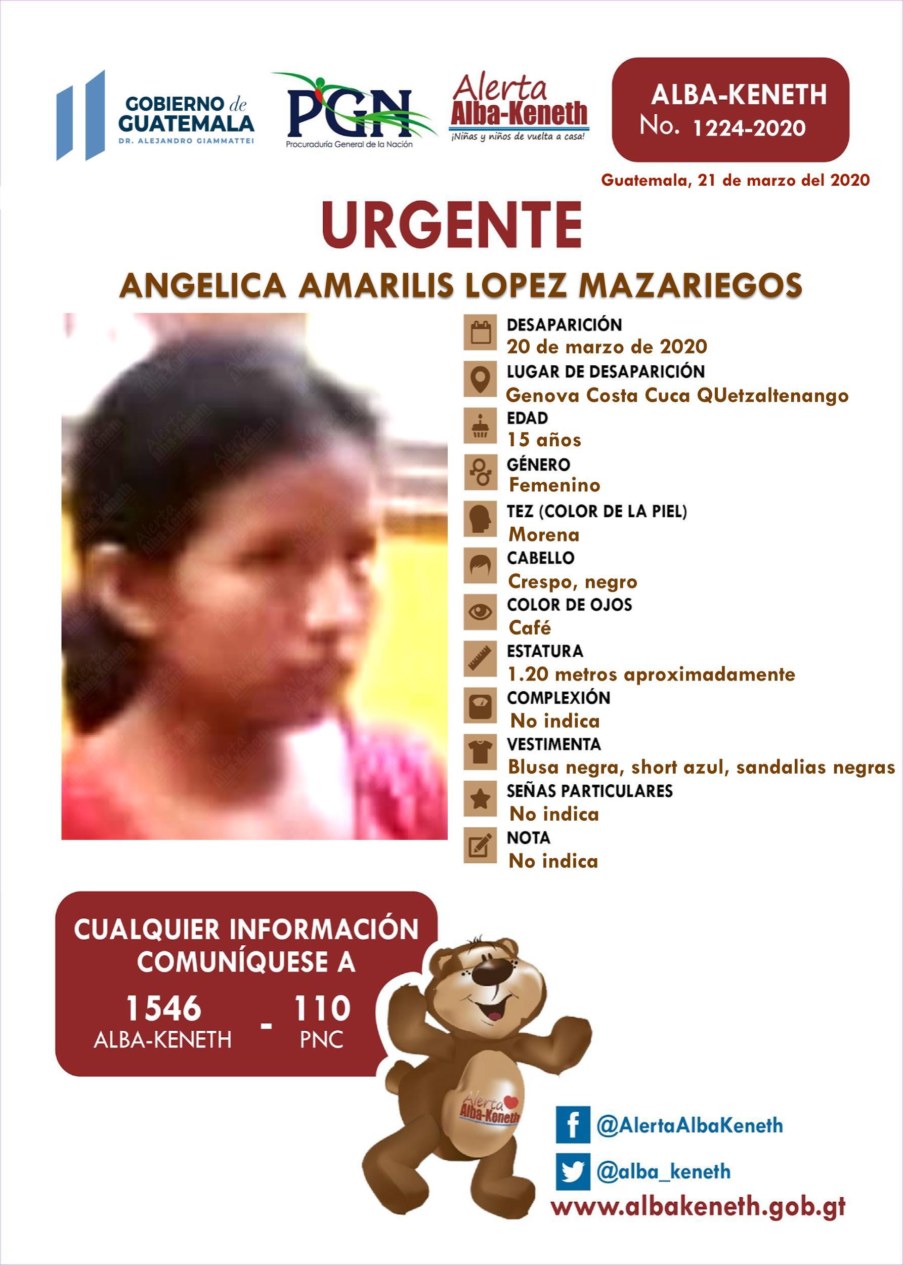 Angelica Amarilis Lopez Mazariegos