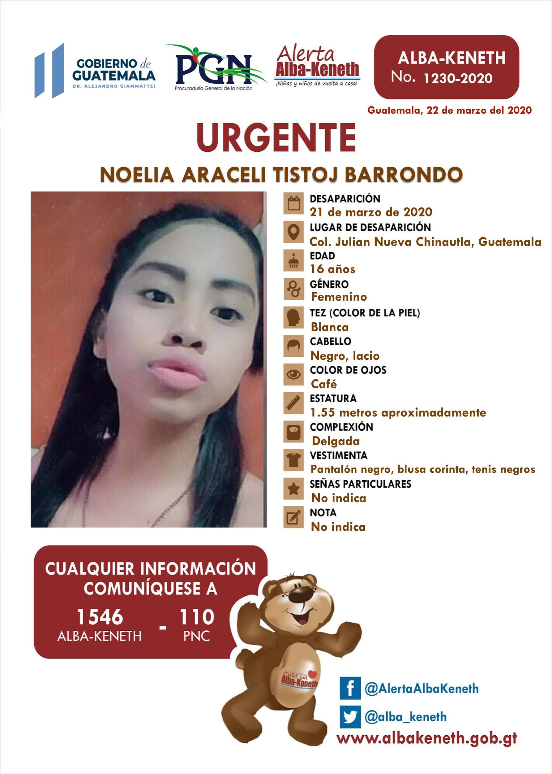Noelia Araceli Tistoj Barrondo