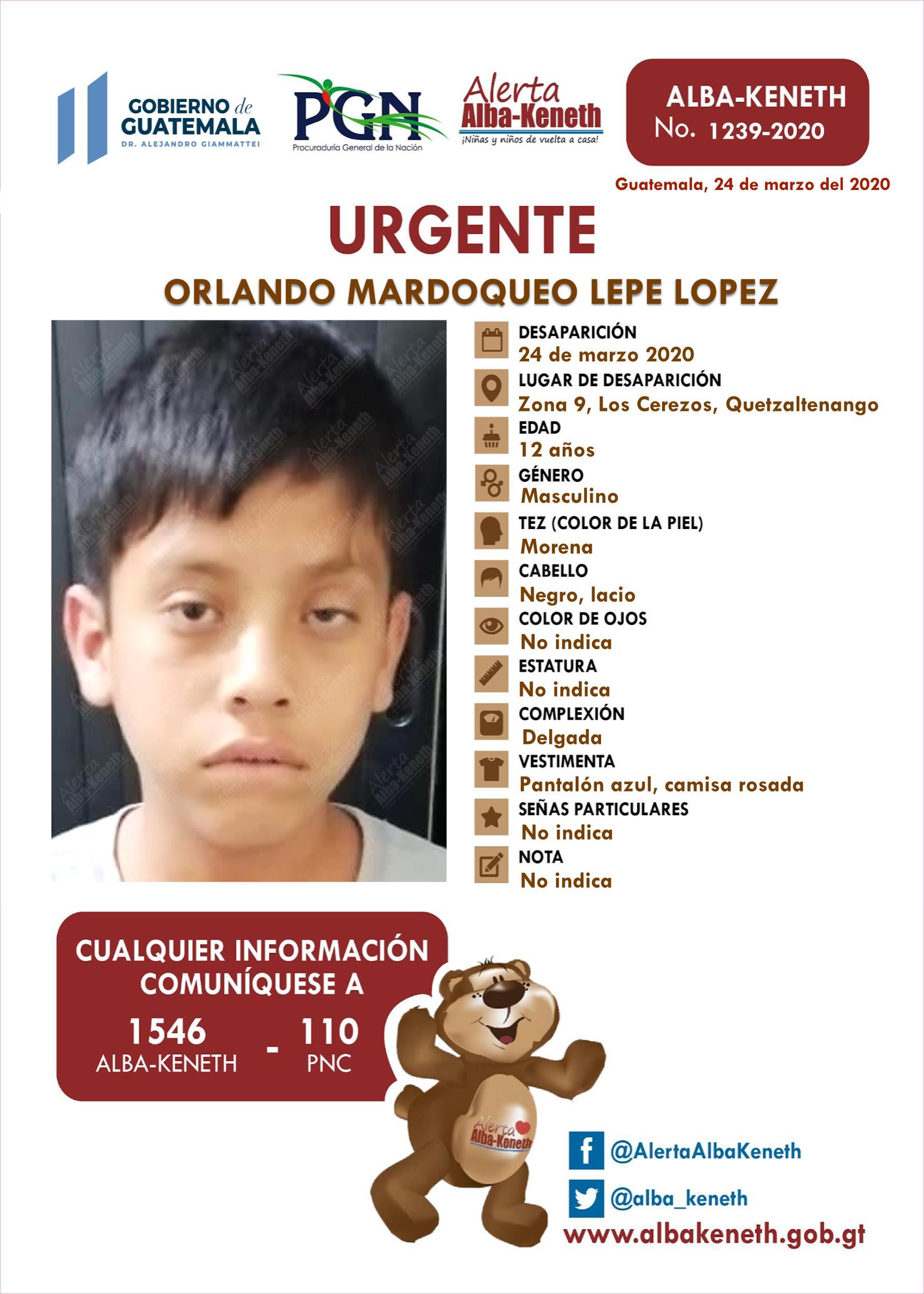 Orlando Mardoqueo Lepe Lopez