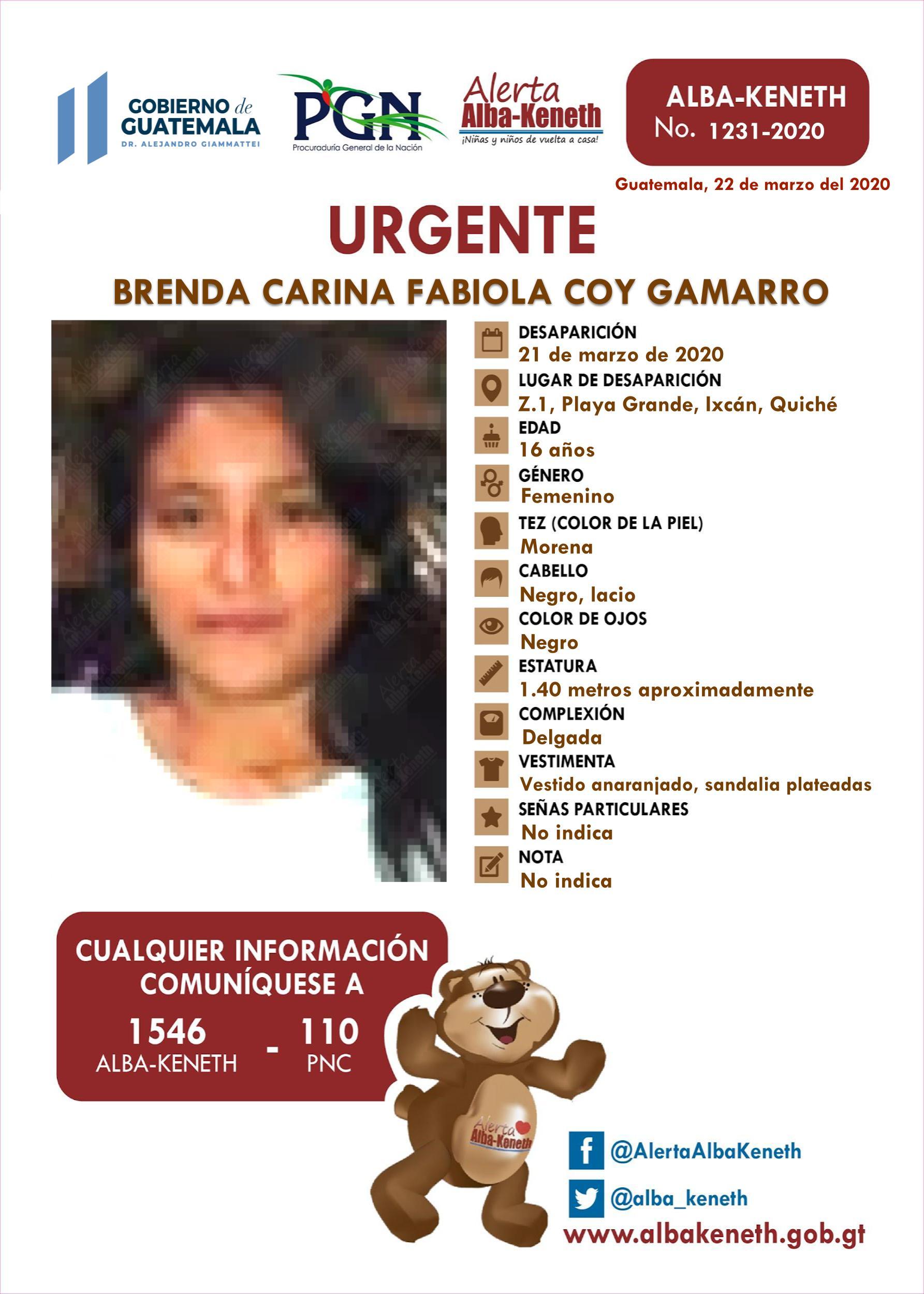 Brenda Carina Fabiola Coy Gamarro