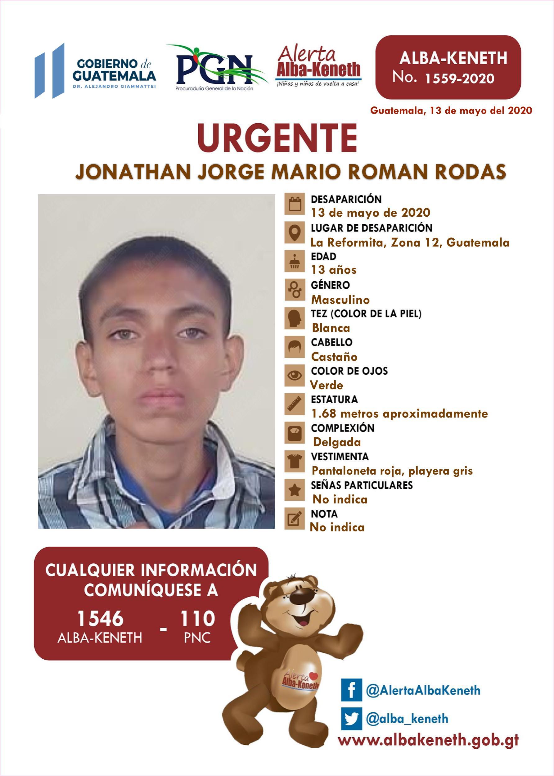 Jonathan Jorge Mario Roman Rodas