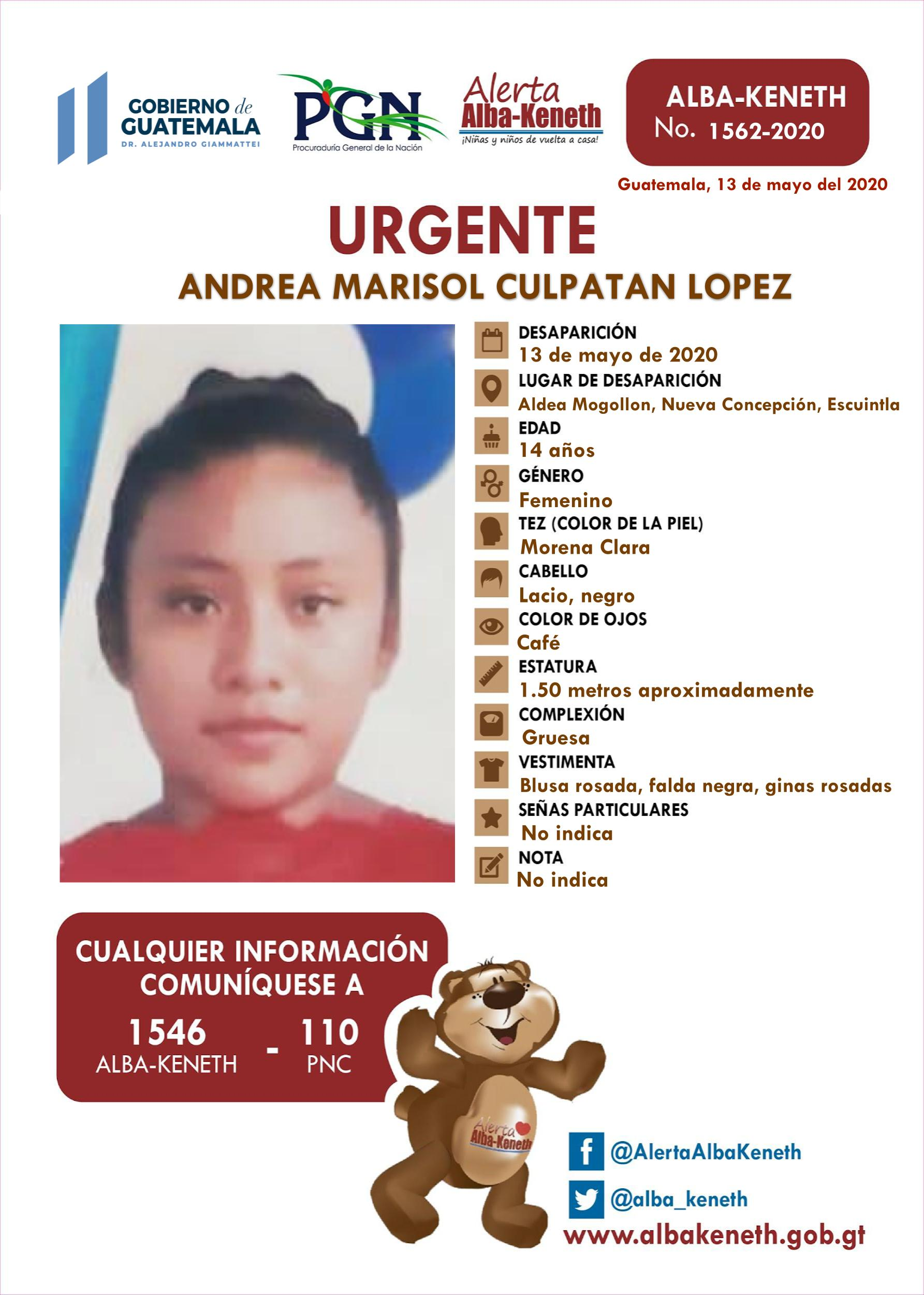 Andrea Marisol Culpatan Lopez